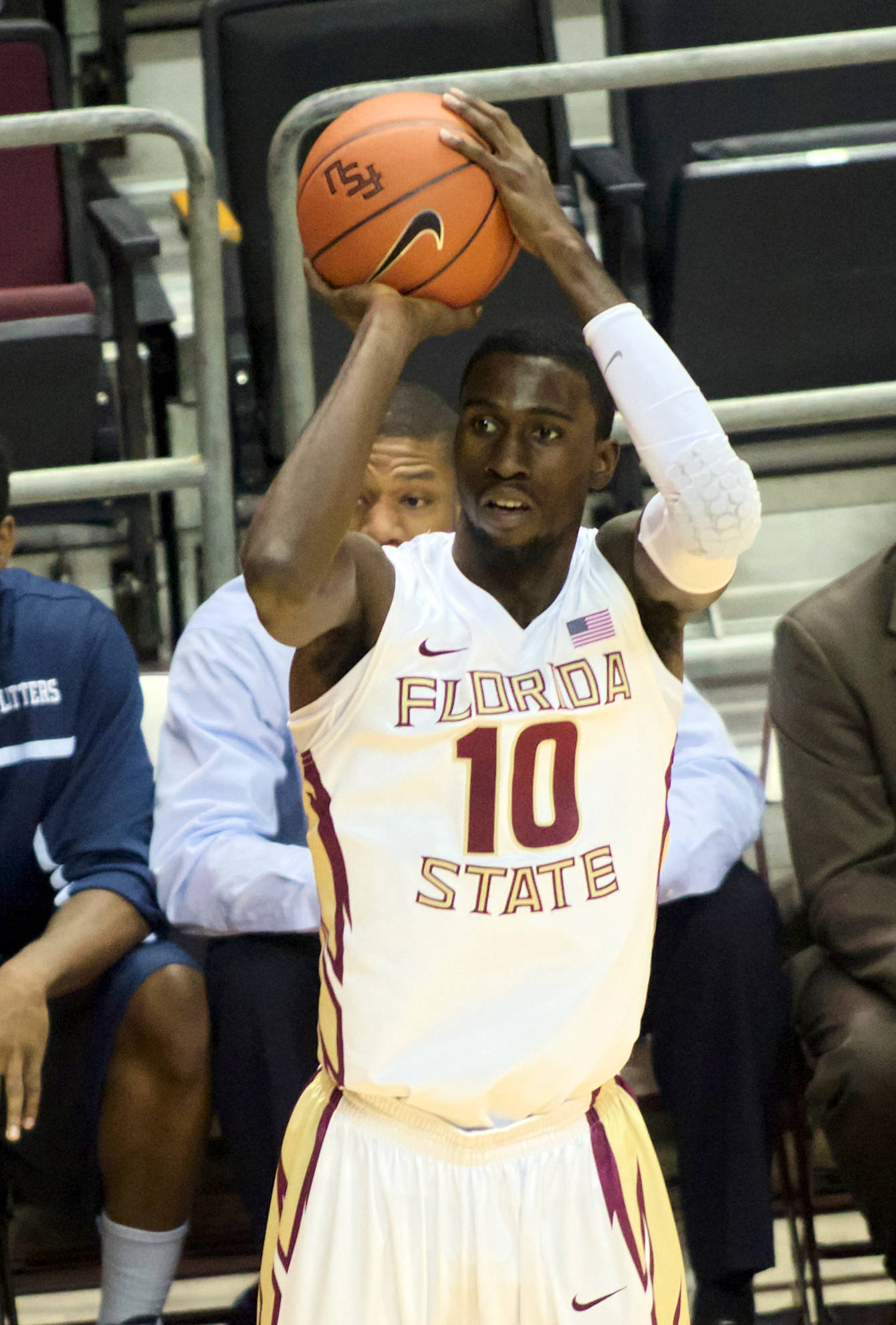 Okaro White (10), FSU vs Lincoln Memorial, 10/28/12. (Photo by Steve Musco)