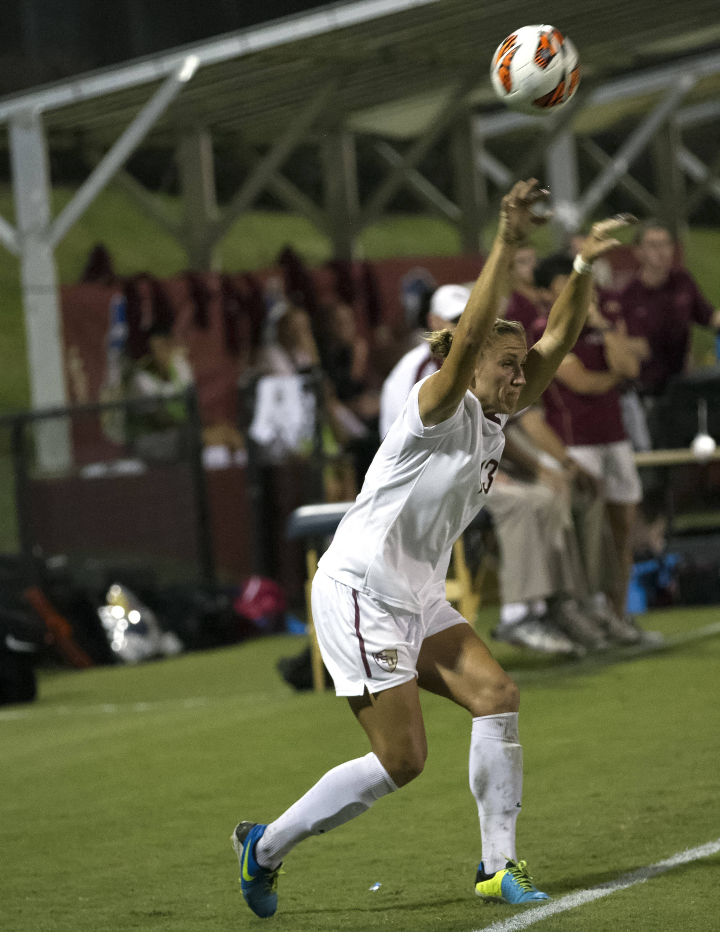 Kristin Grubka, FSU vs North Carolina,  9-18-13, (Photo by Steve Musco)
