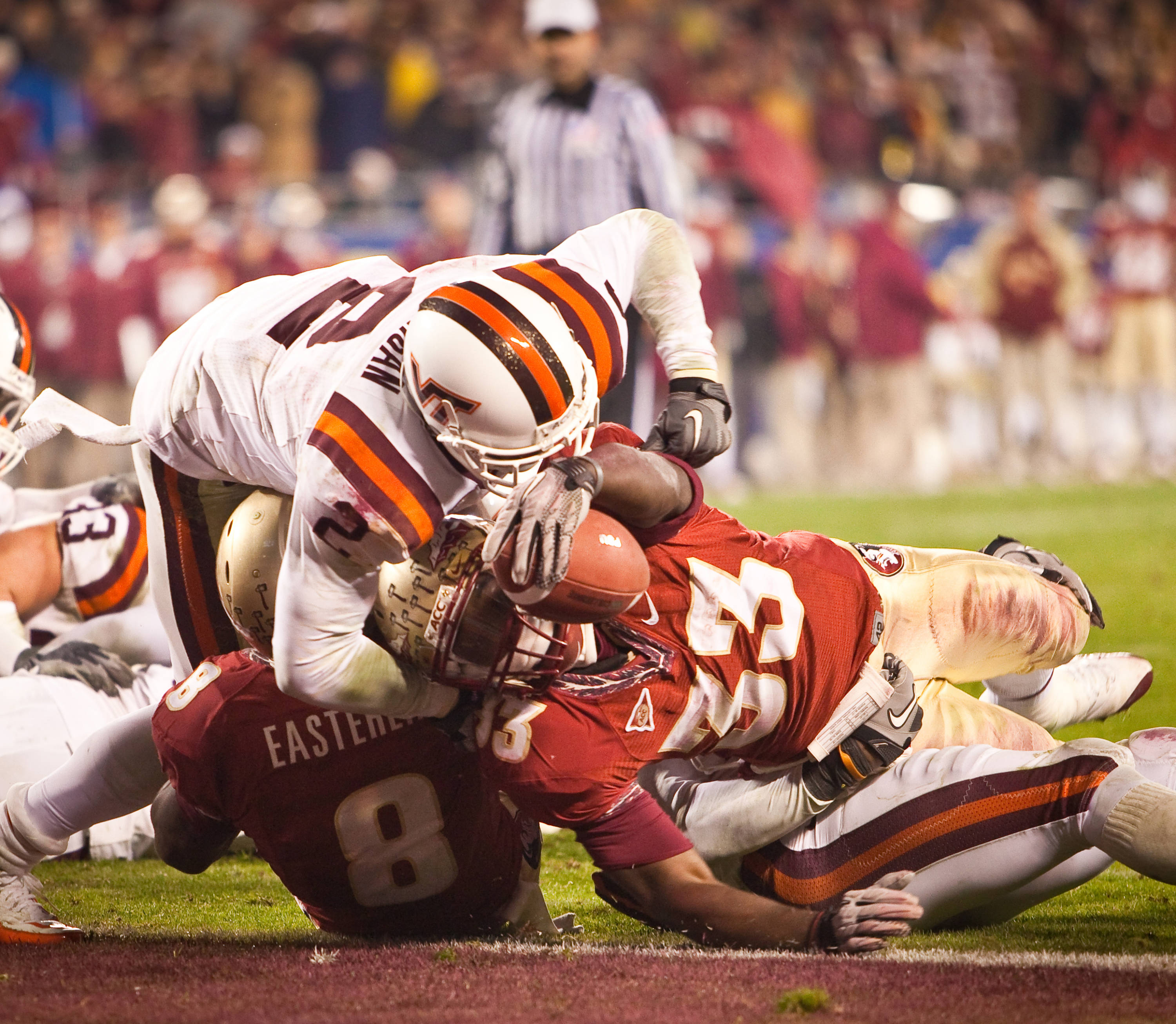 Ty Jones scores a touchdown in the ACC Championship Game.