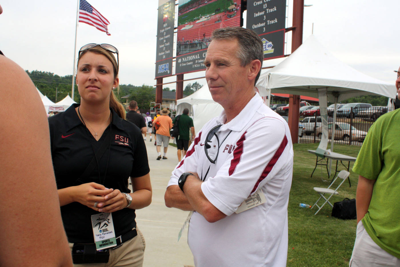 Coach Braman and Sports Information's Tania Fernandez