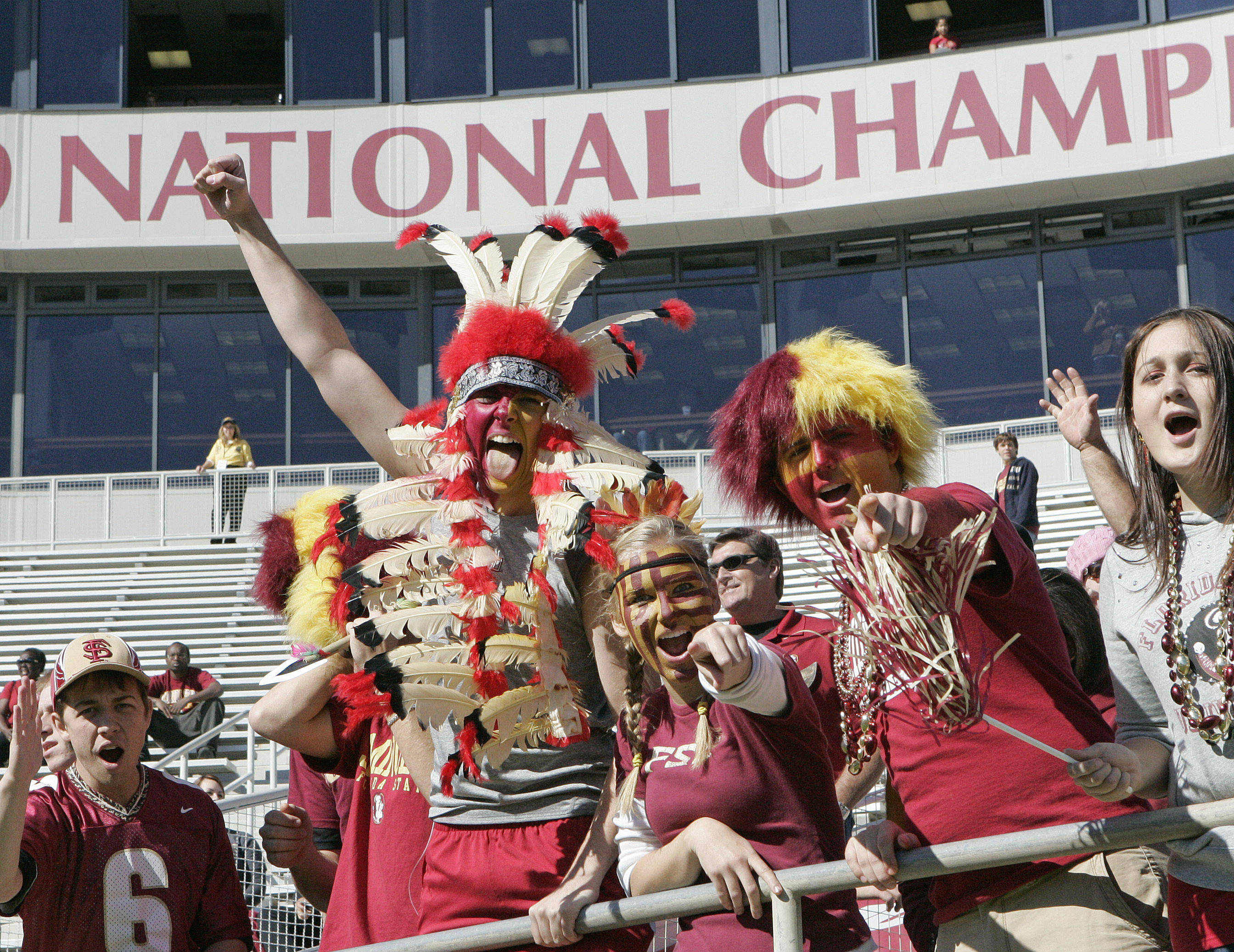 Florida State's fans get cranked up Saturday's meeting with North Carolina. (AP Photo/Steve Cannon)