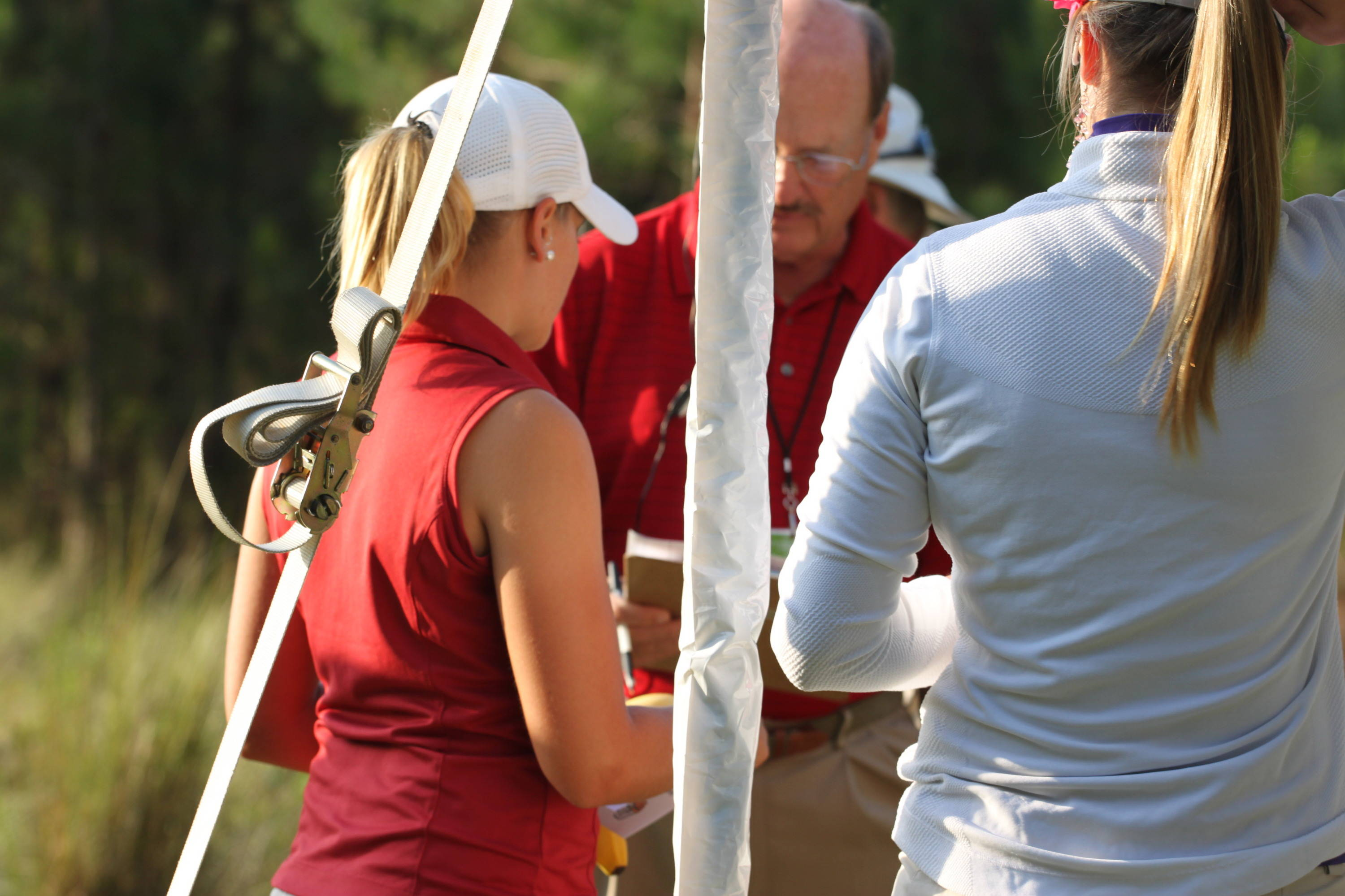 2011 NCAA Golf -- Andrea Kaelin gets her final instructions