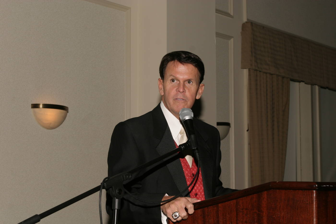Athletics Director Dave Hart gave the Director's Address.