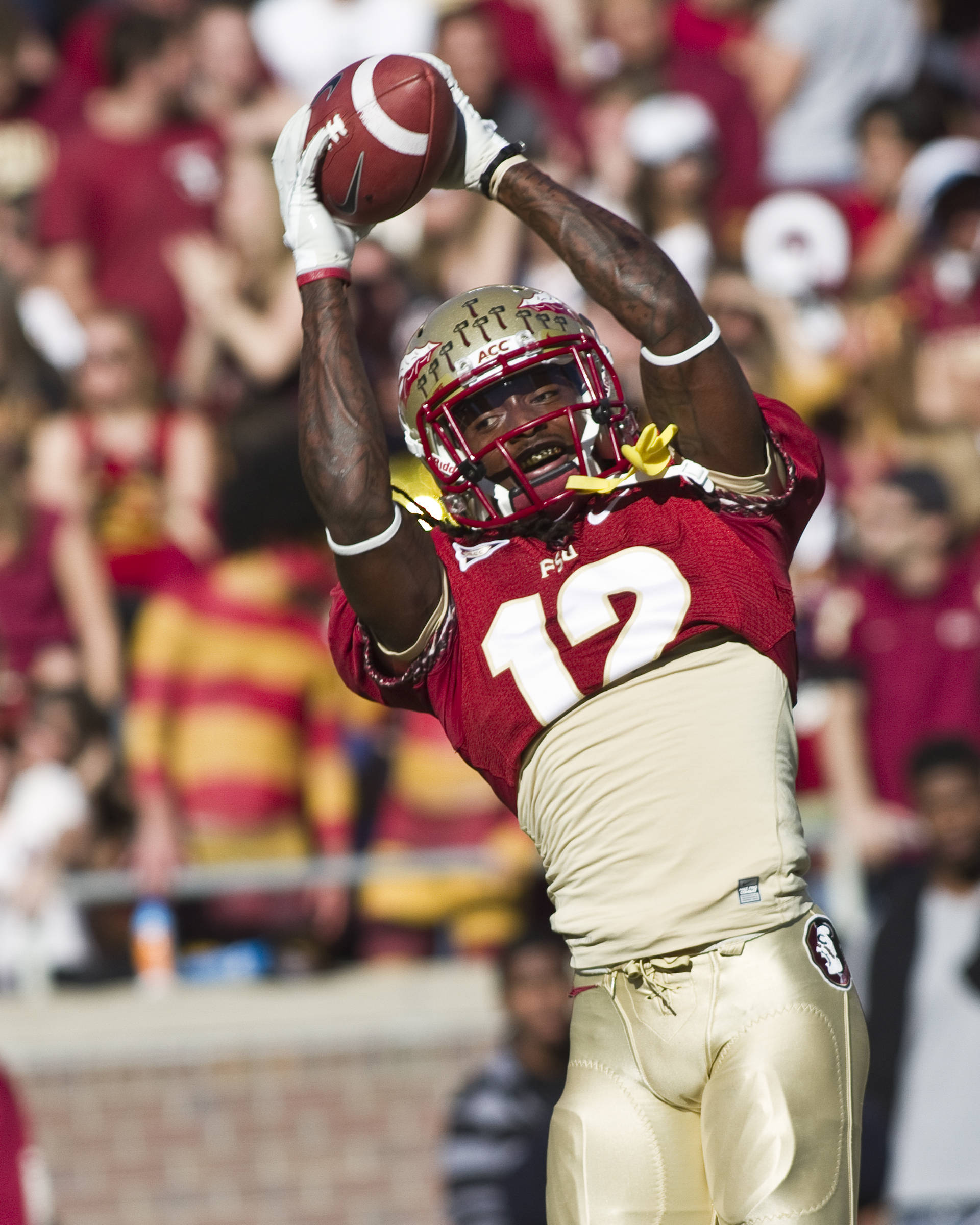 Jarred Haggins (12), FSU vs Miami, 11/12/2011
