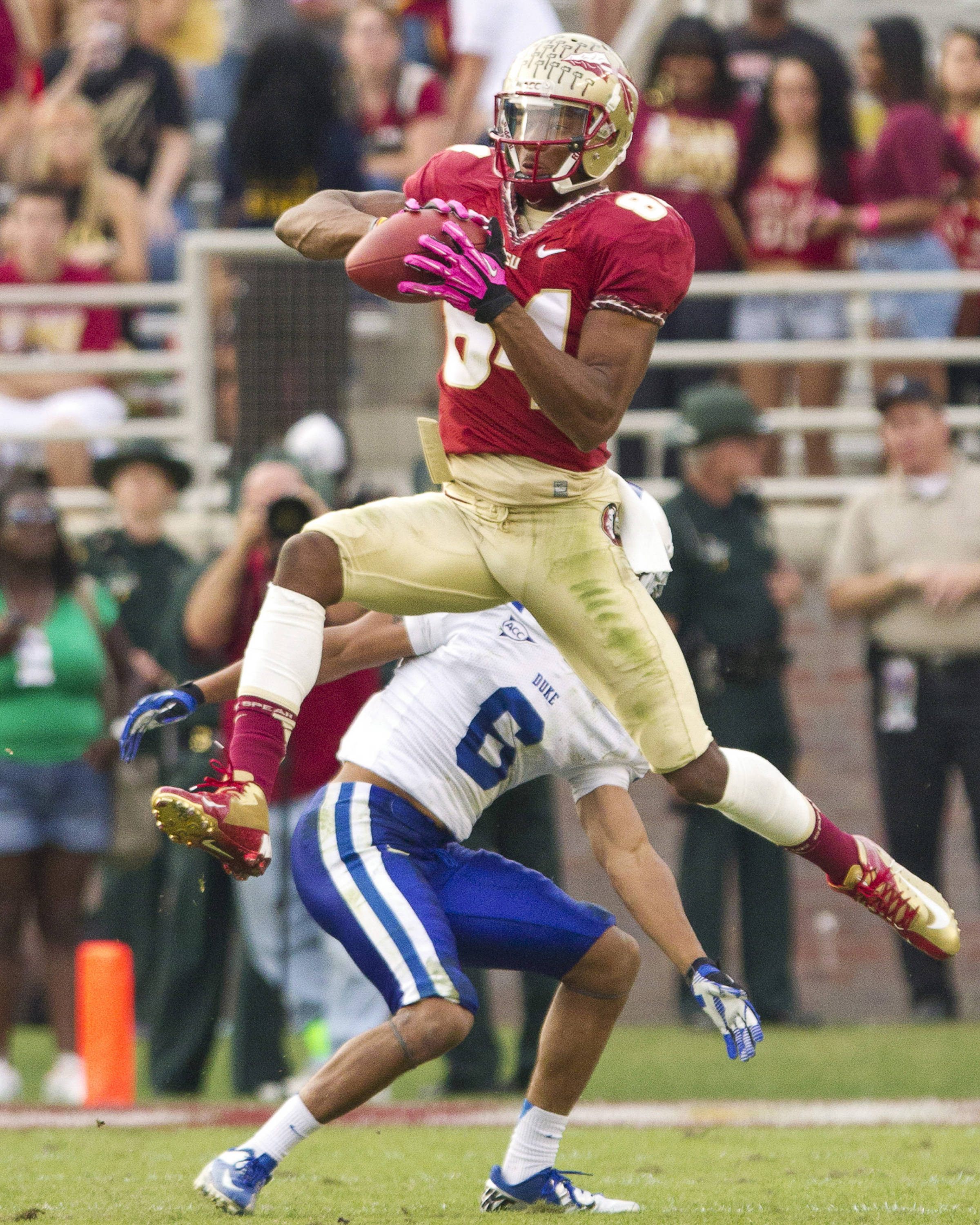 Rodney Smith (84) makes a reception during FSU's 48-7 victory over Duke on October 27, 2012 in Tallahassee, Fla.