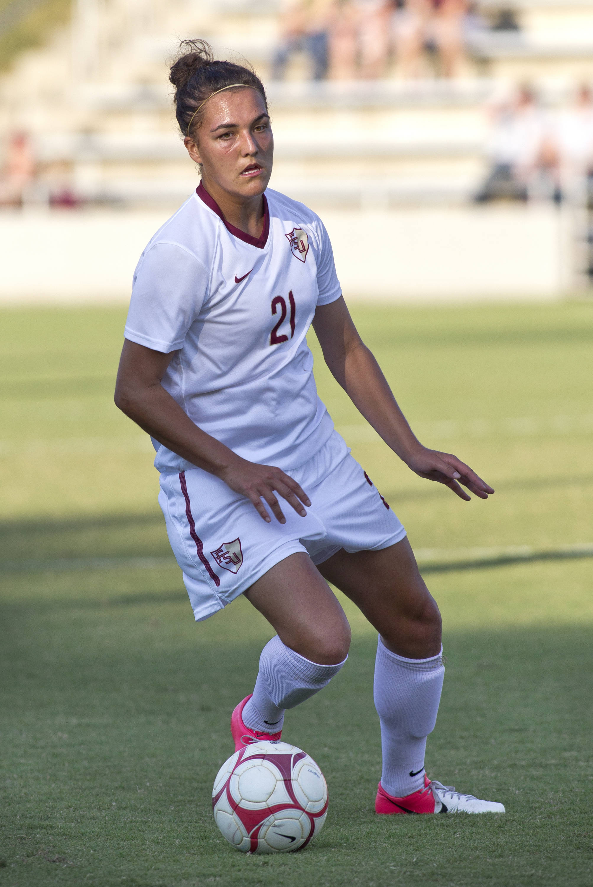 Marta Bakowska-Mathews (21), FSU vs Jackson State, 9/21/12 (Photo by Steve Musco)