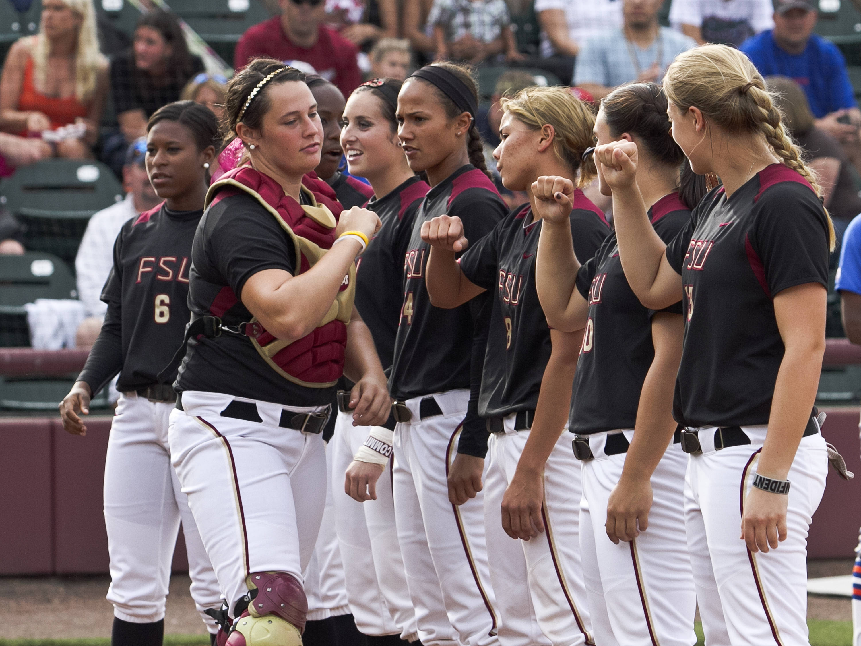 FSU pre-game introductions, FSU Softball vs FLA  04/02/2012