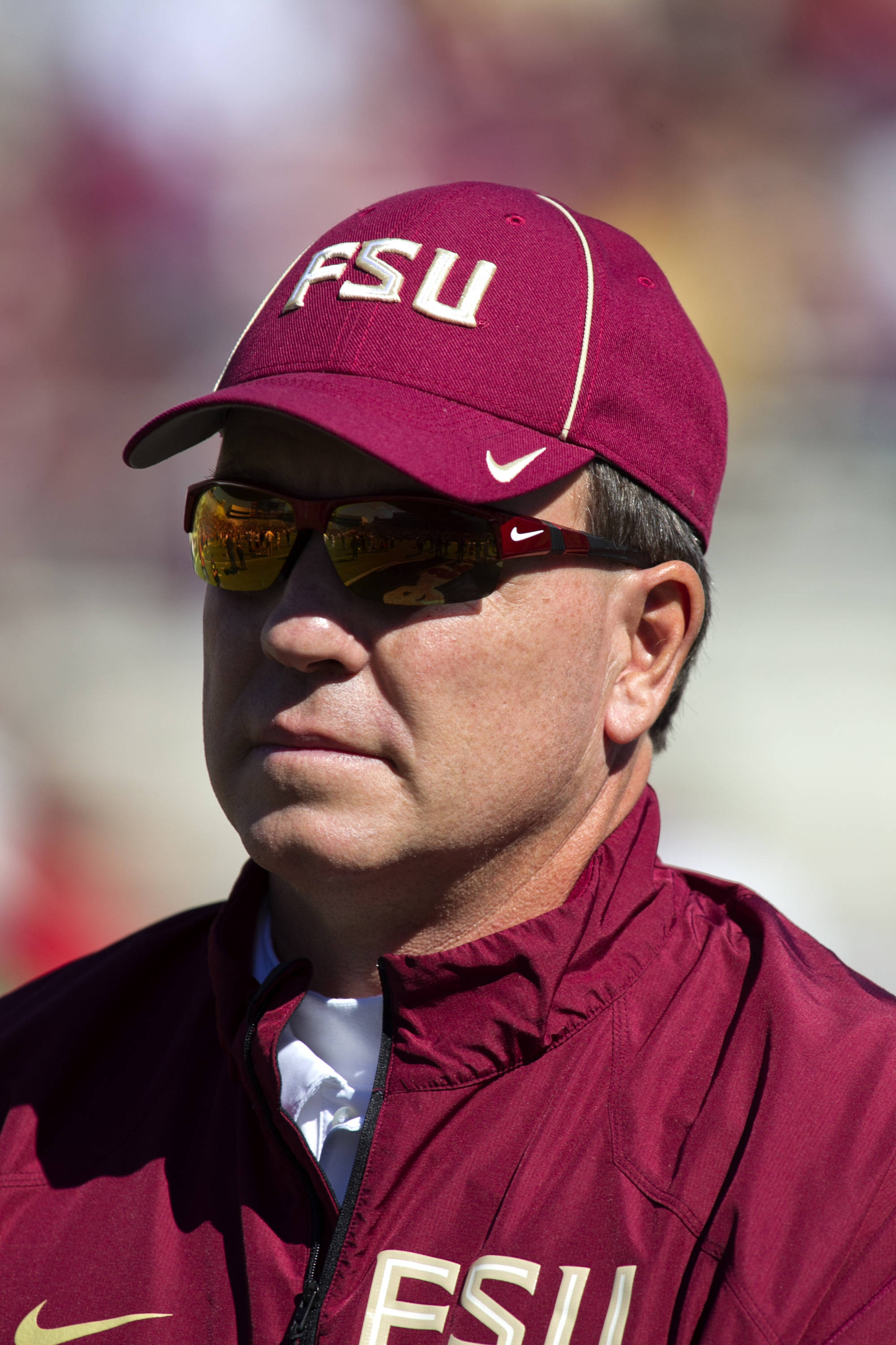 Head Coach Jimbo Fisher, FSU vs NC State,  10-26-13, (Photo by Steve Musco)