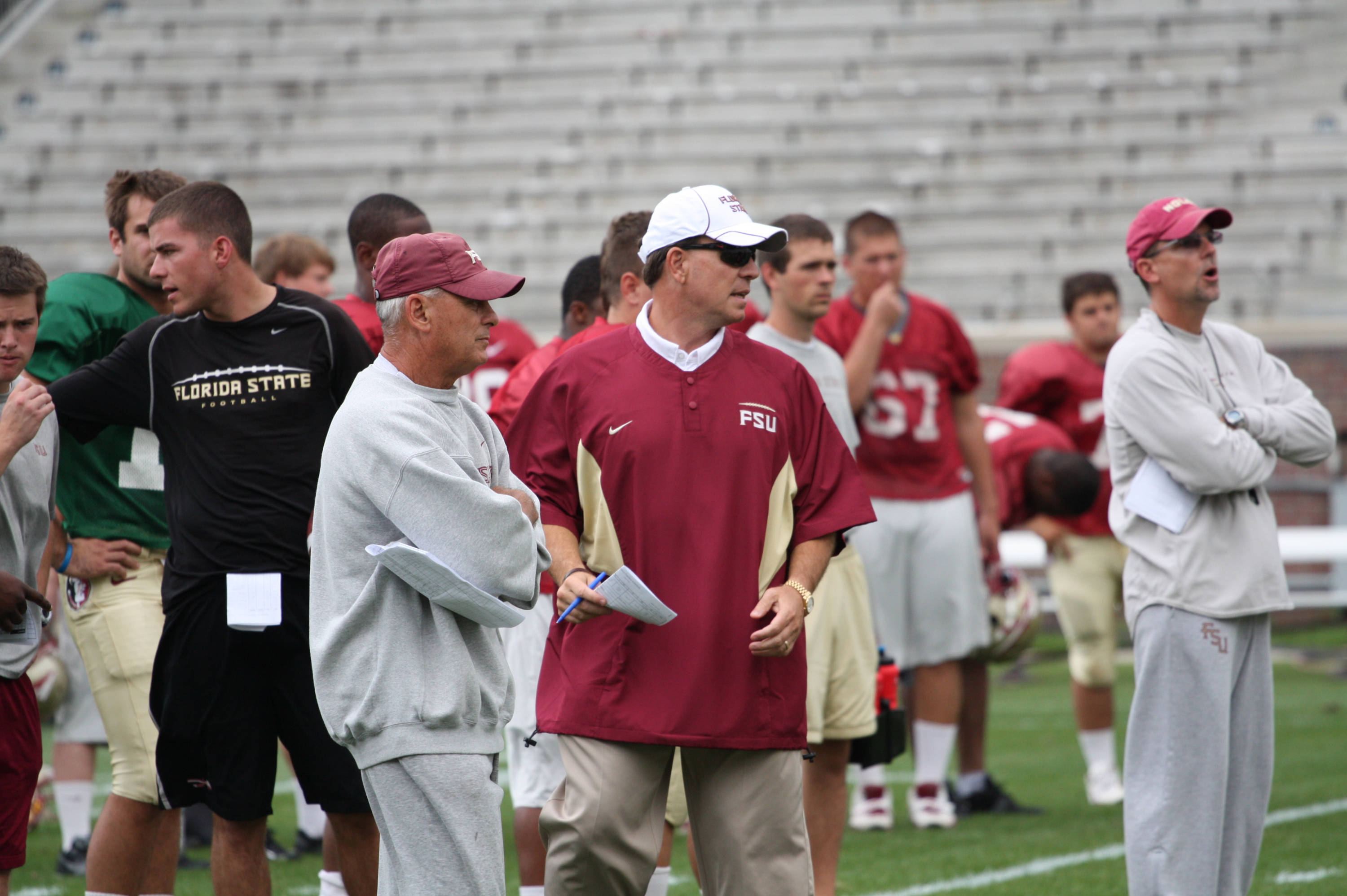 Jimbo Fisher and Rick Trickett
