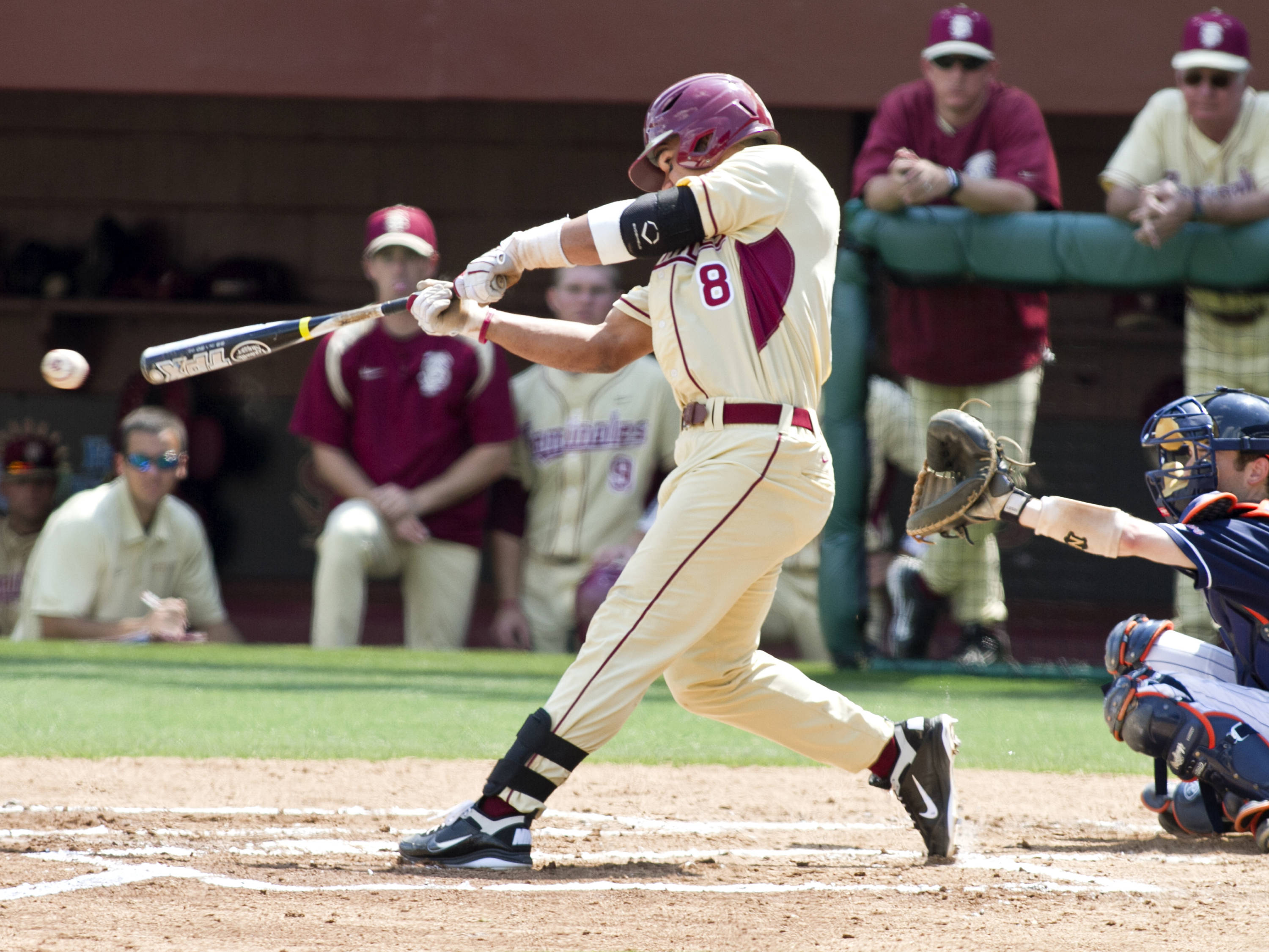 Devon Travis (8), FSU VS Virginia,  03/18/2012