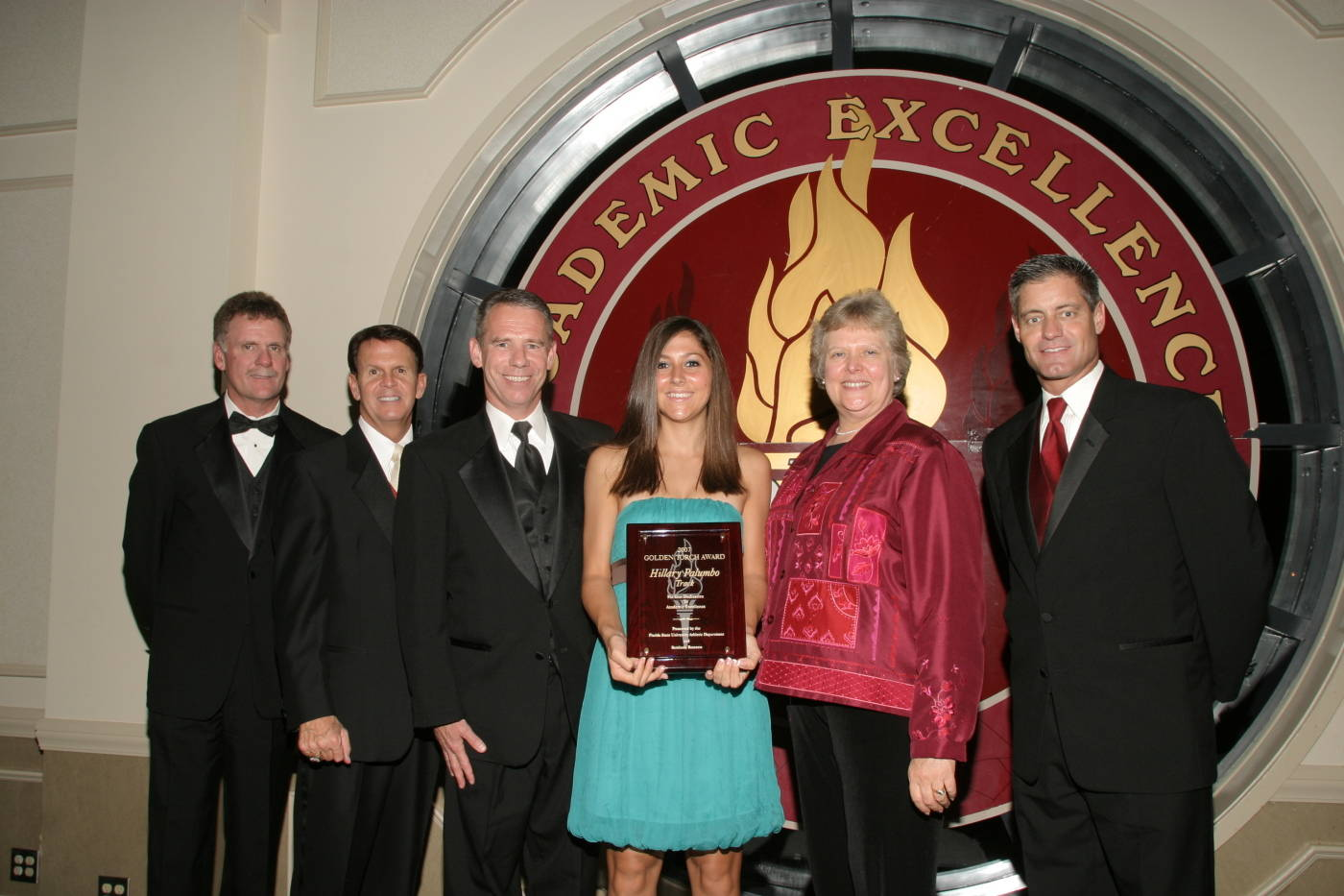 Women's Track & Field 2006-07 Golden Torch Award recipient, Hillary Palumbo.