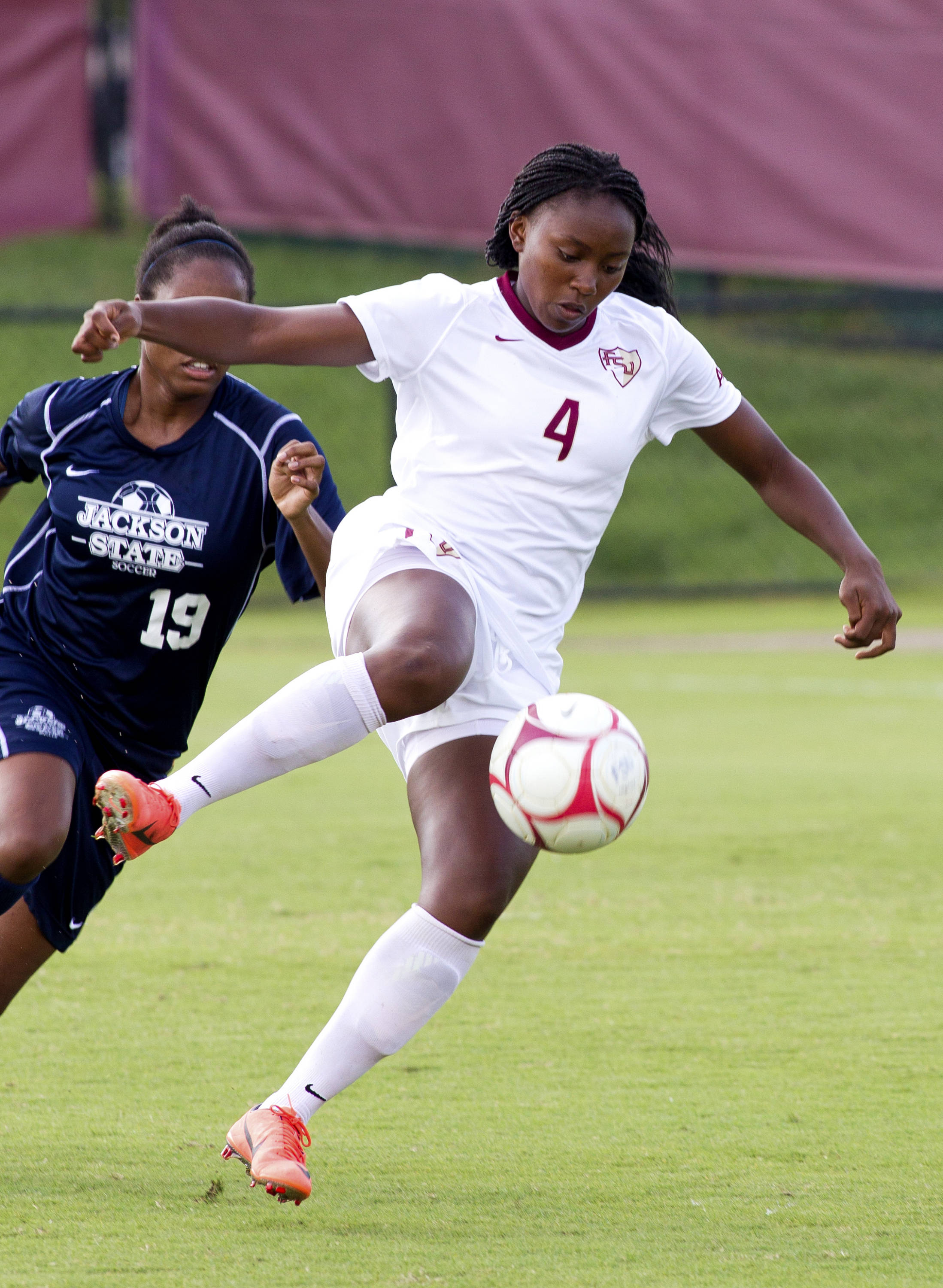 Jamia Fields (4), FSU vs Jackson State, 9/21/12 (Photo by Steve Musco)