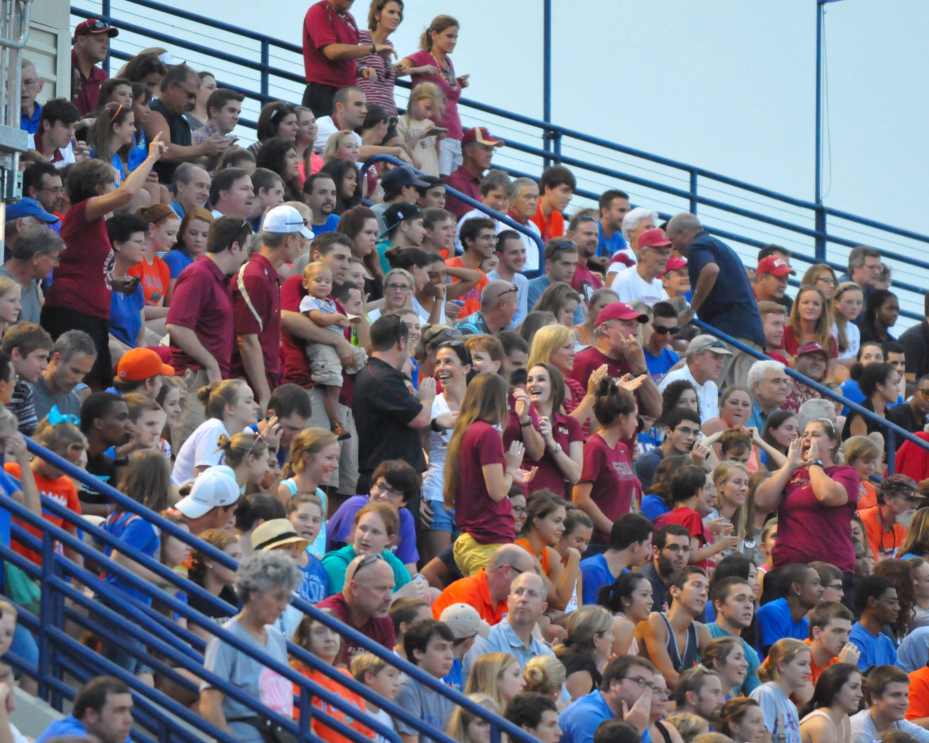 FSU fans in attendance at Pressly Statdium Friday night.