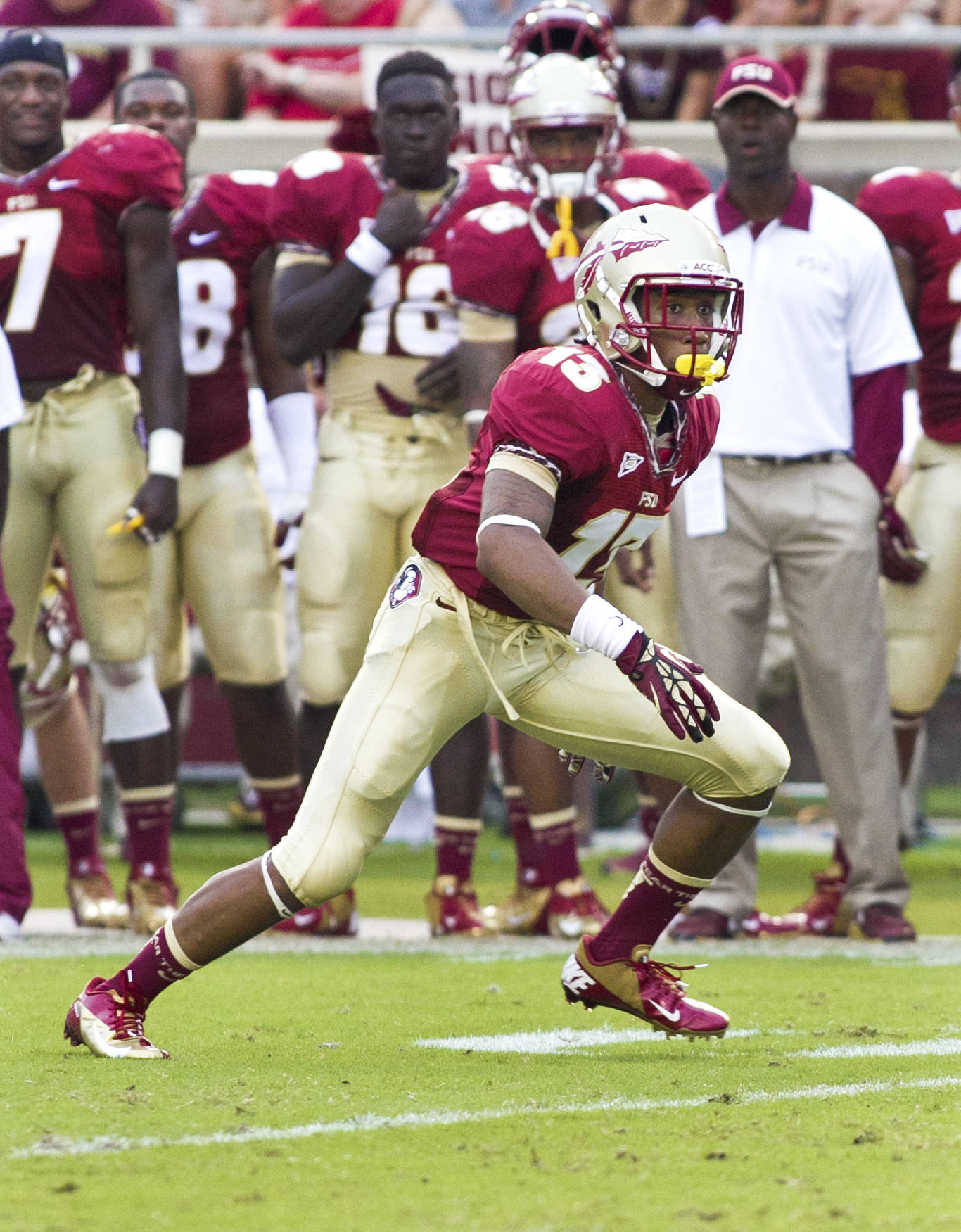 Ronald Darby (13),  FSU vs Savannah State, 9/8/12 (Photo by Steve Musco)