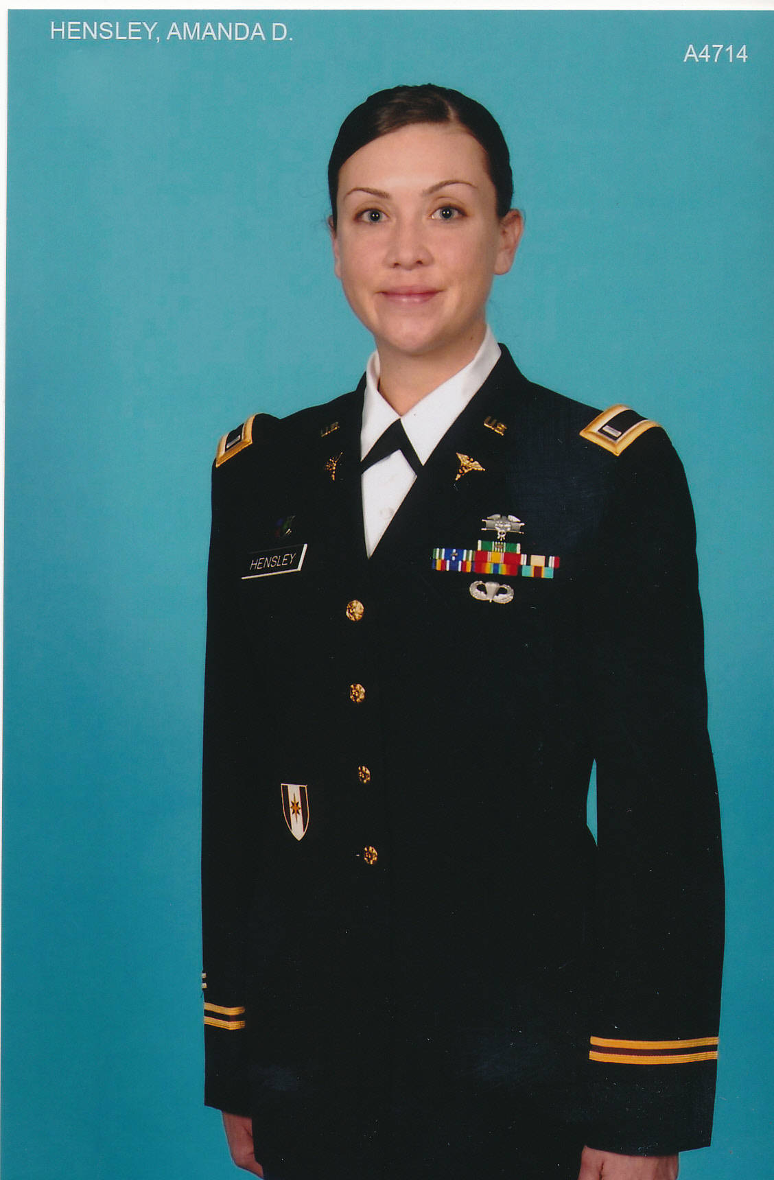 Amanda is currently stationed in San Antonio as a member of the United States Army.