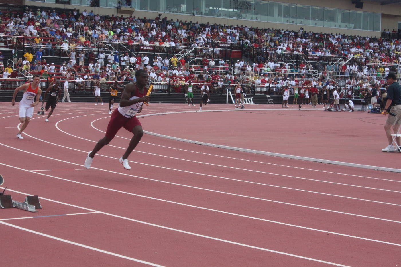 Kevin Williams in the 4x400m relay.