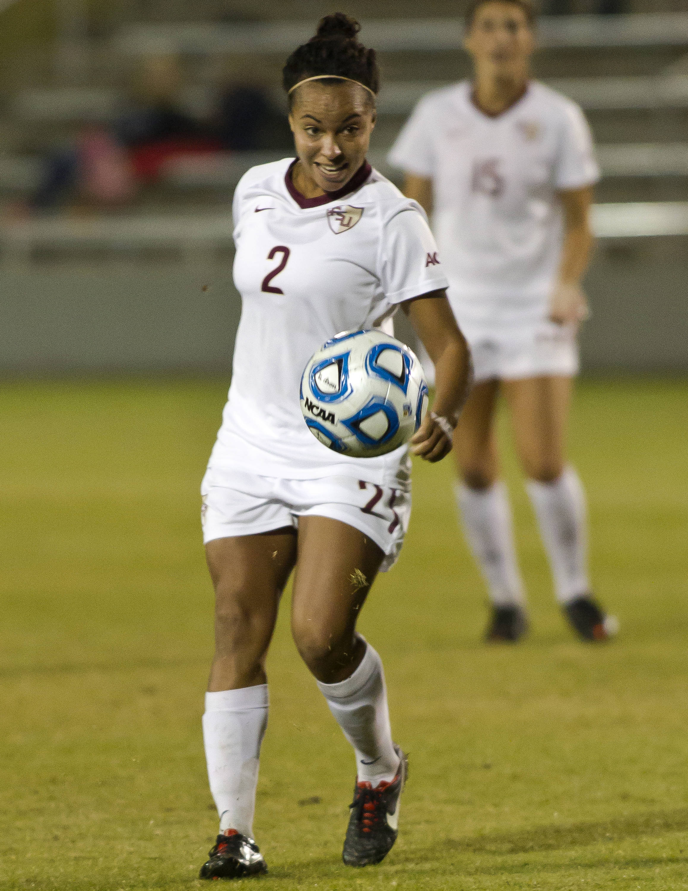 Ines Jaurena (2), FSU vs MVSU, 11/09/12. (Photo by Steve Musco)