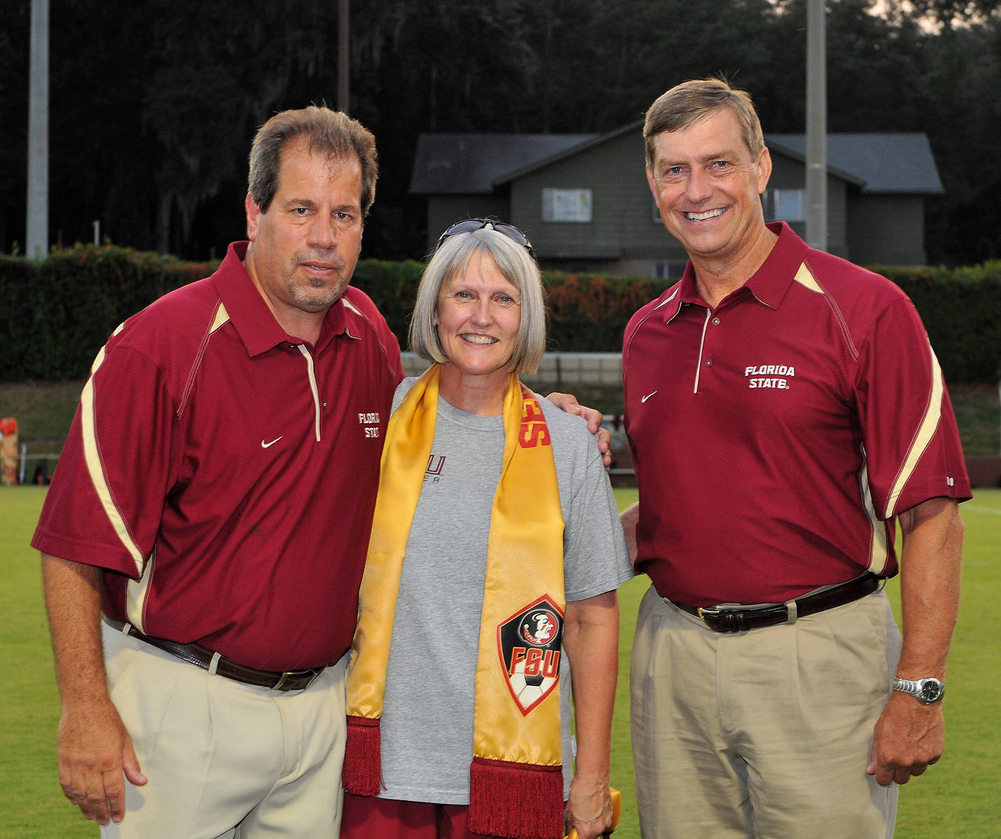Mark Krikorian, Molly Barron and FSU Director of Athletics Randy Spetman.