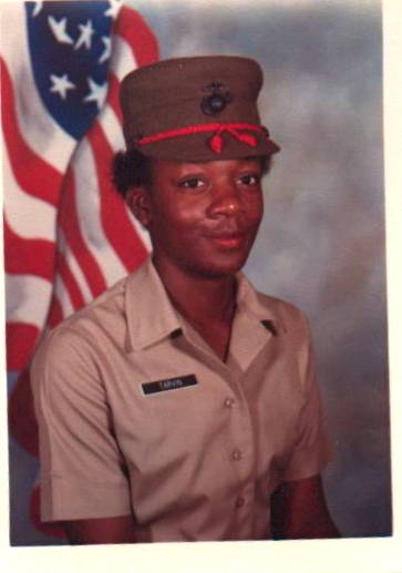 Another picture of Renee Bryant, mother of redshirt junior Amber Bryant. Amber's father, Robert, also served as a United States Marine from 1980-86.
