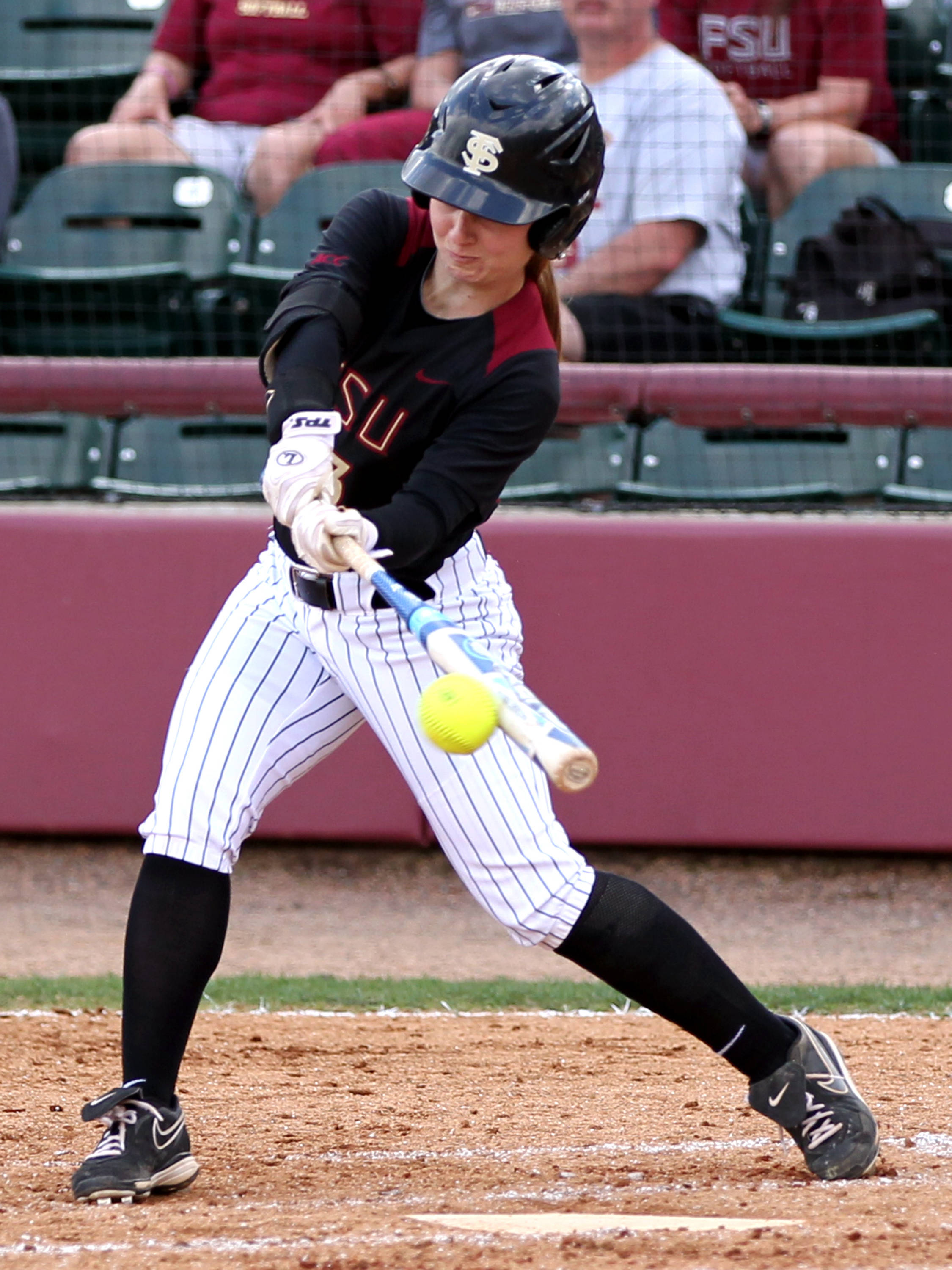 Kirstin Austin (33), FSU vs BC, 04/07/13 . (Photo by Steve Musco)