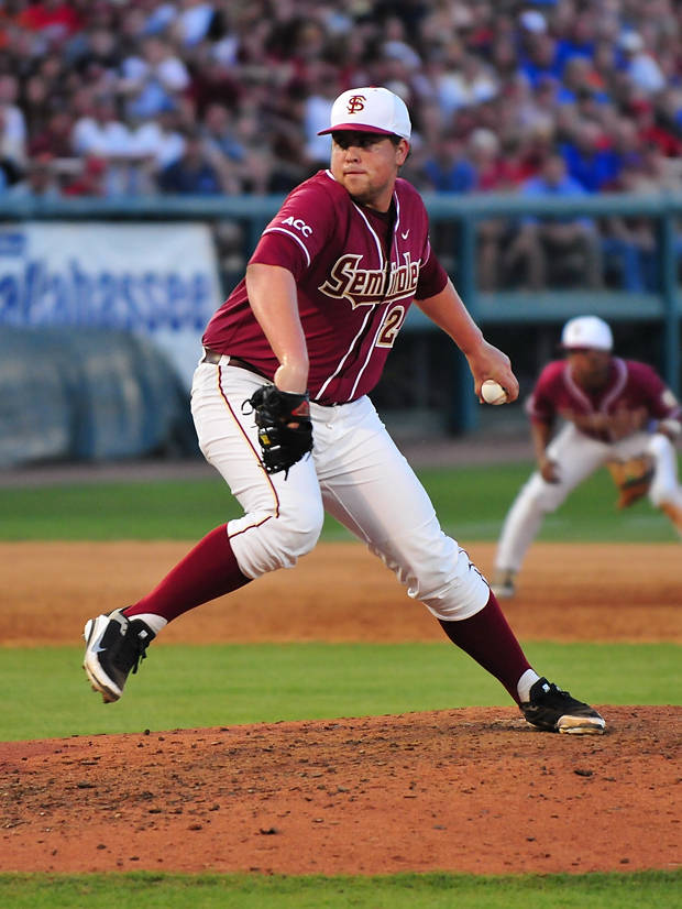 Brian Busch came on in the eighth inning to relieve starter Hunter Scantling and hold the Gators in check.