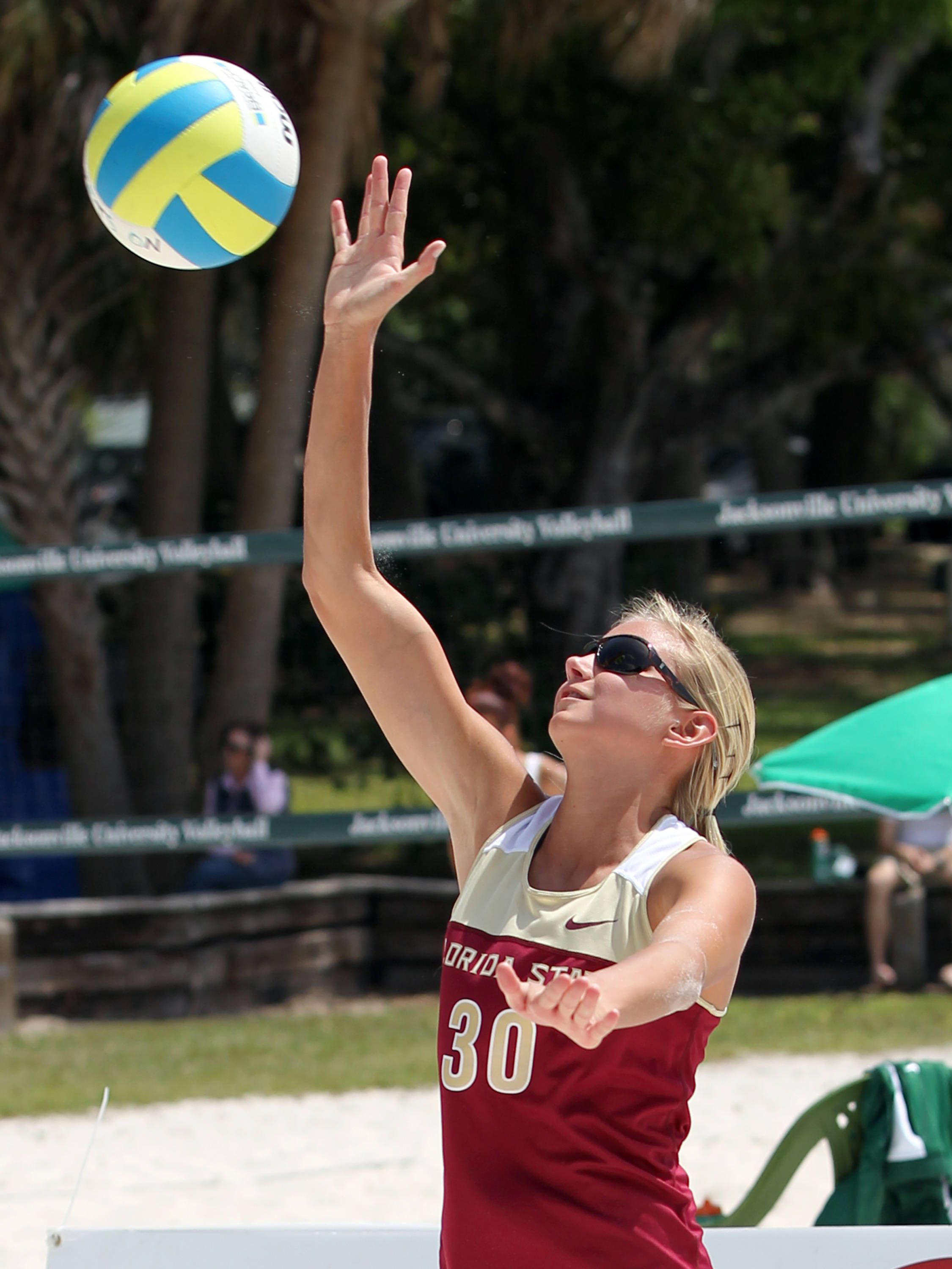 Kristina Pellitteri, FSU vs Jacksonville, 03/30/13 . (Photo by Steve Musco)