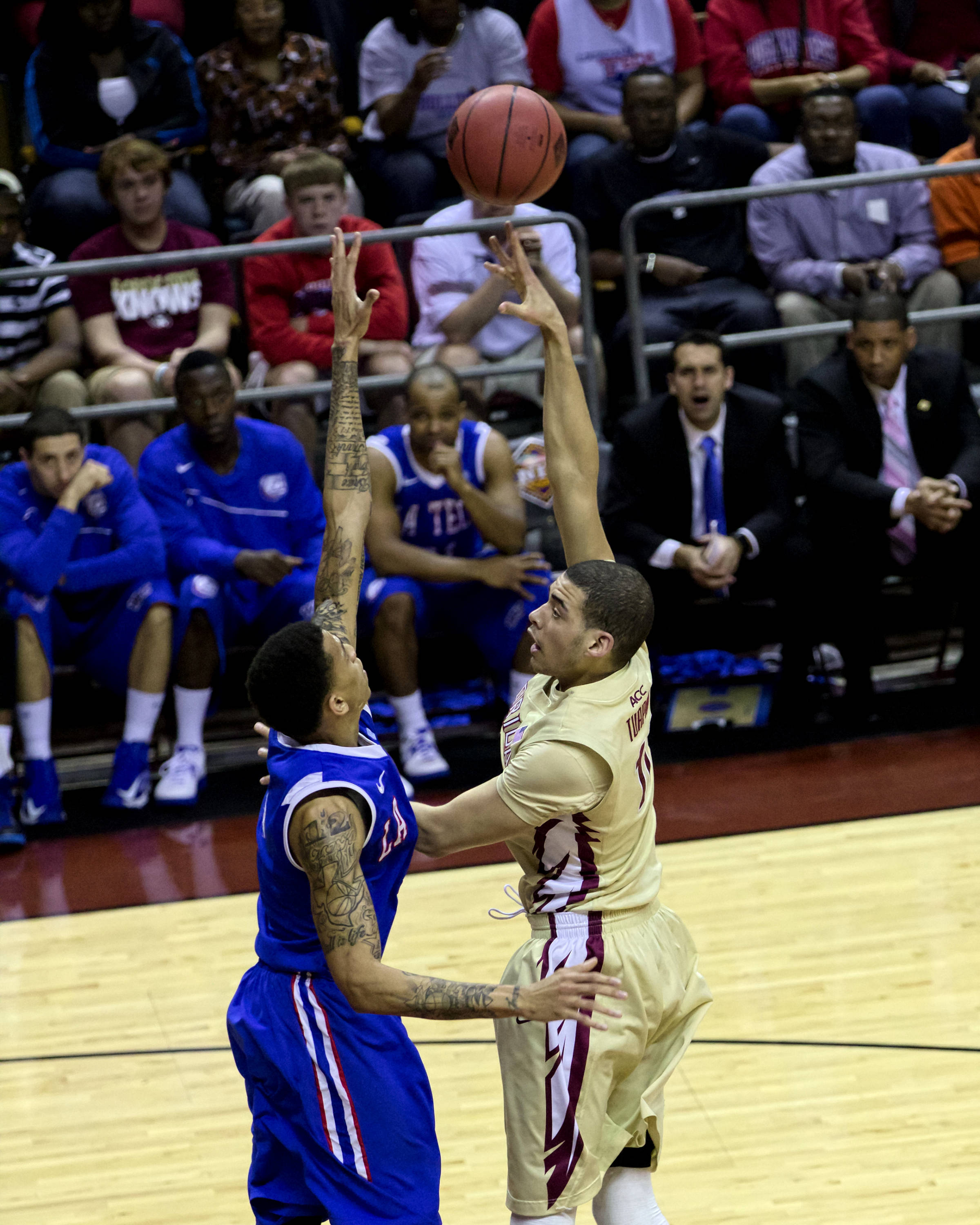 Kiel Turpin (11), NIT First Round, FSU vs Louisiana Tech, 03/19/13 . (Photo by Steve Musco)
