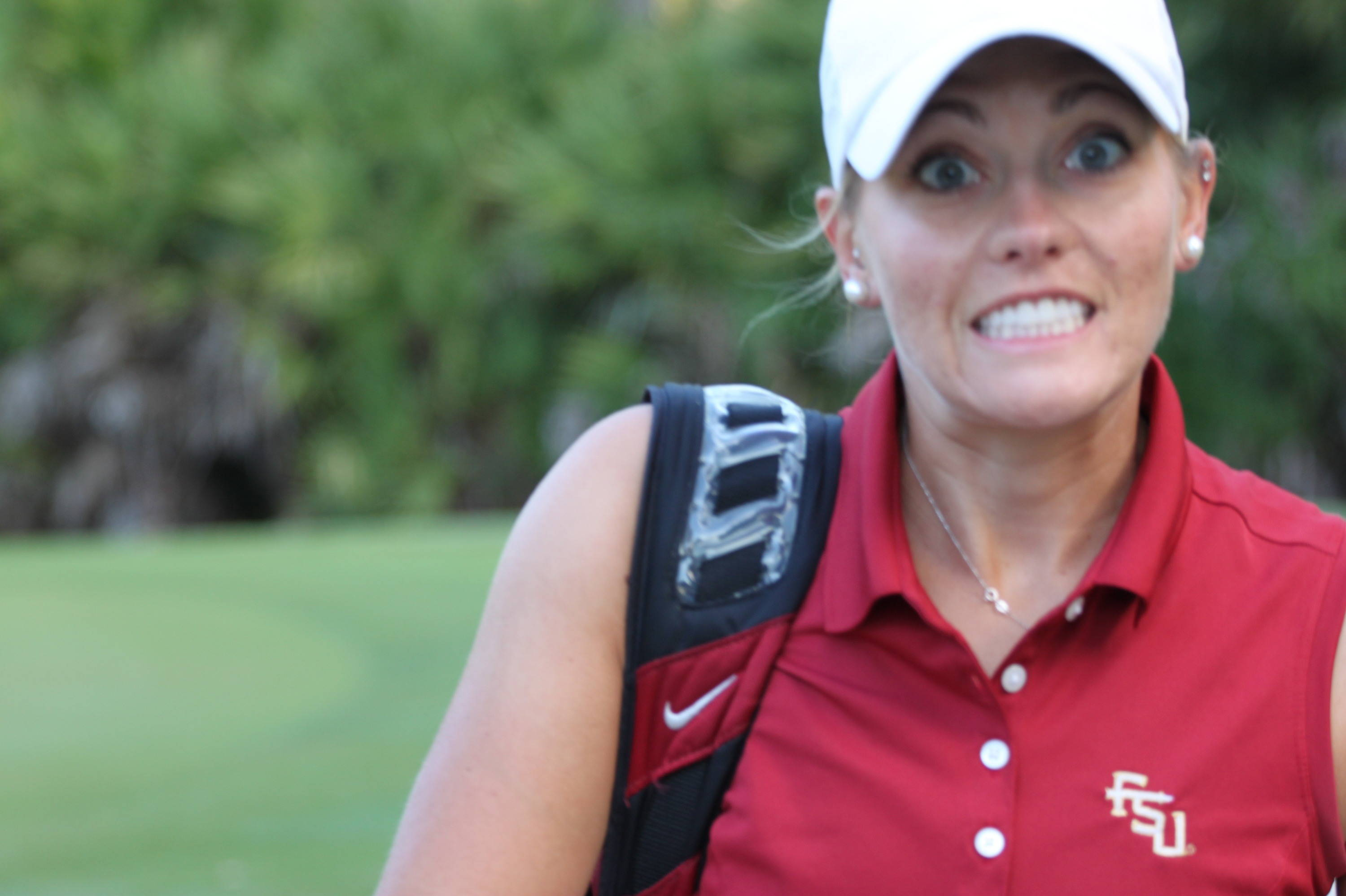 2011 NCAA Golf -- Andrea Kaelin is ready to play in her first regional championship