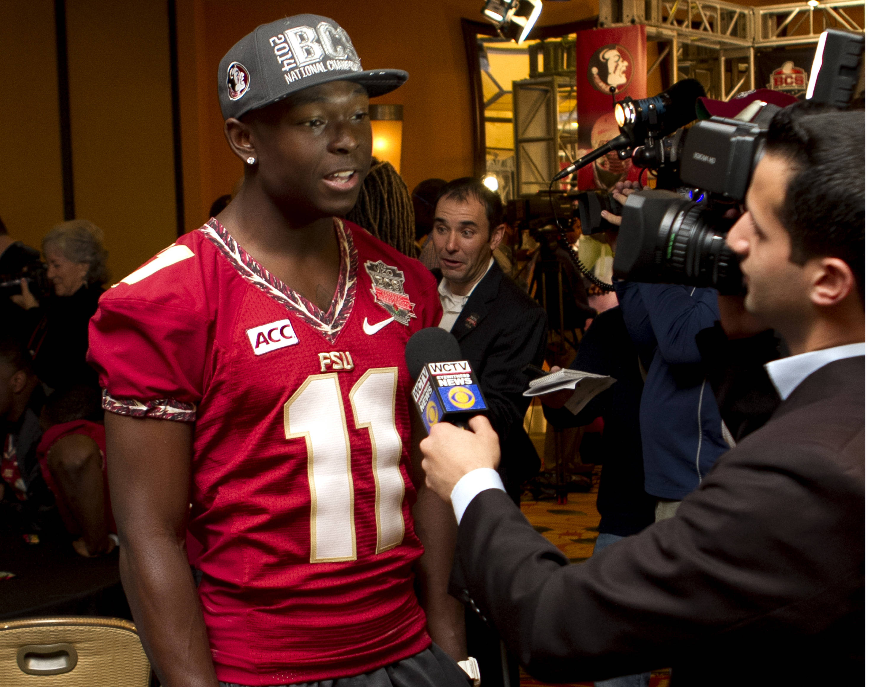 John Franklin III, FSU at BCS Championship Media Day,  1-04-14,  (Photo by Steve Musco)