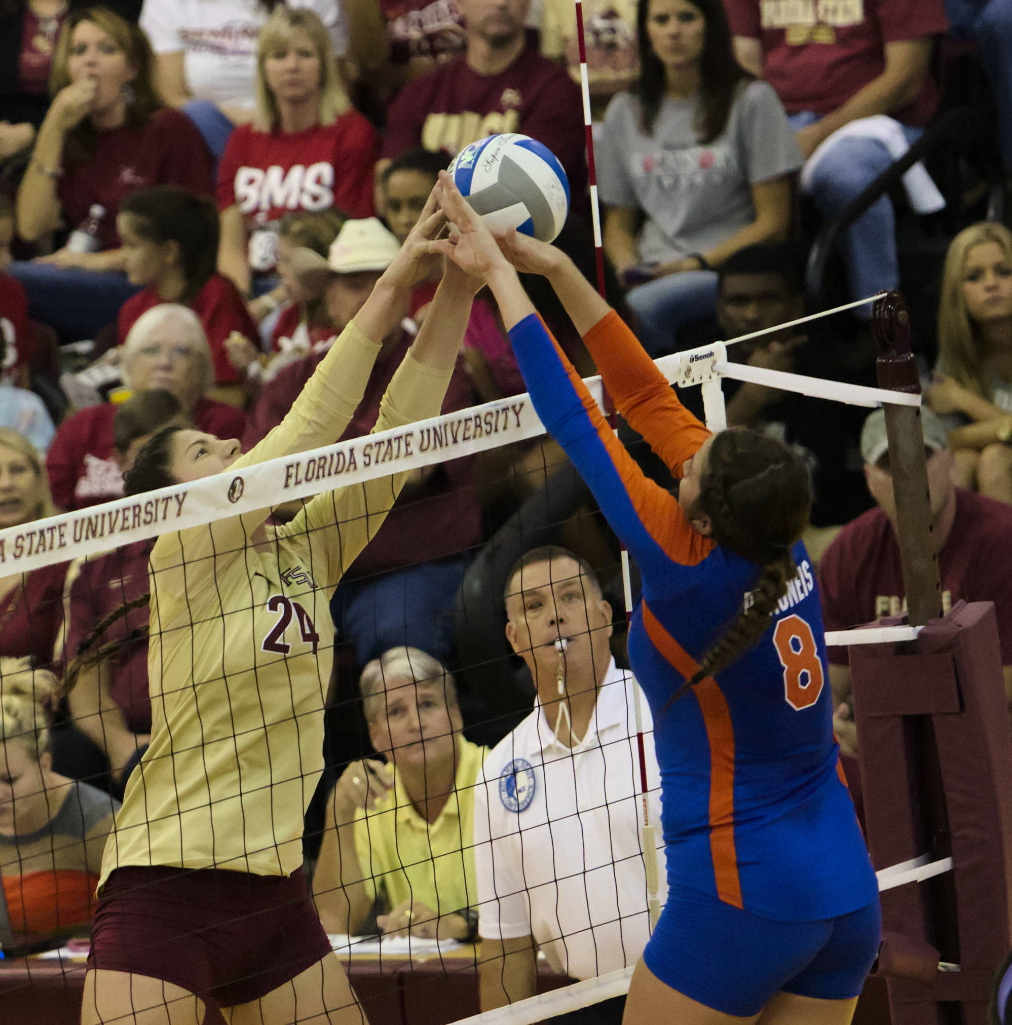 Olivera Medic (24), FSU vs Florida, 10/24/12 (Photo by Steve Musco)