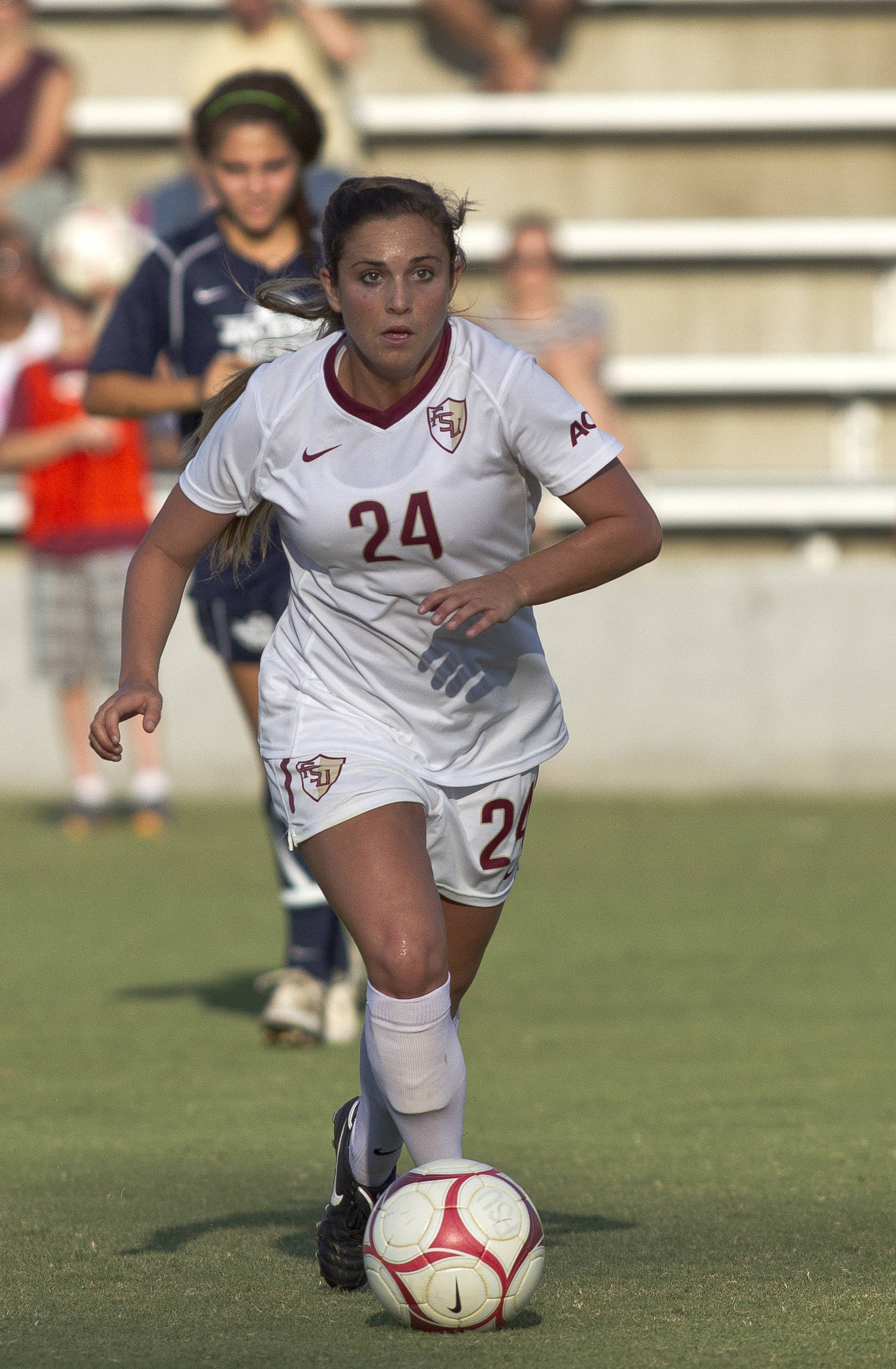 Nicole Fischer (24), FSU vs Jackson State, 9/21/12 (Photo by Steve Musco)