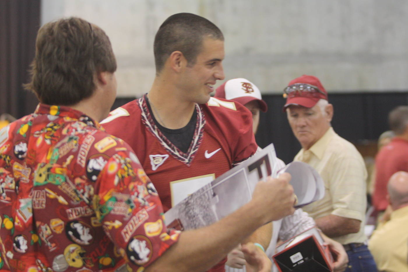 Christian Ponder meeting with fans at the 2009 Football Luncheon.