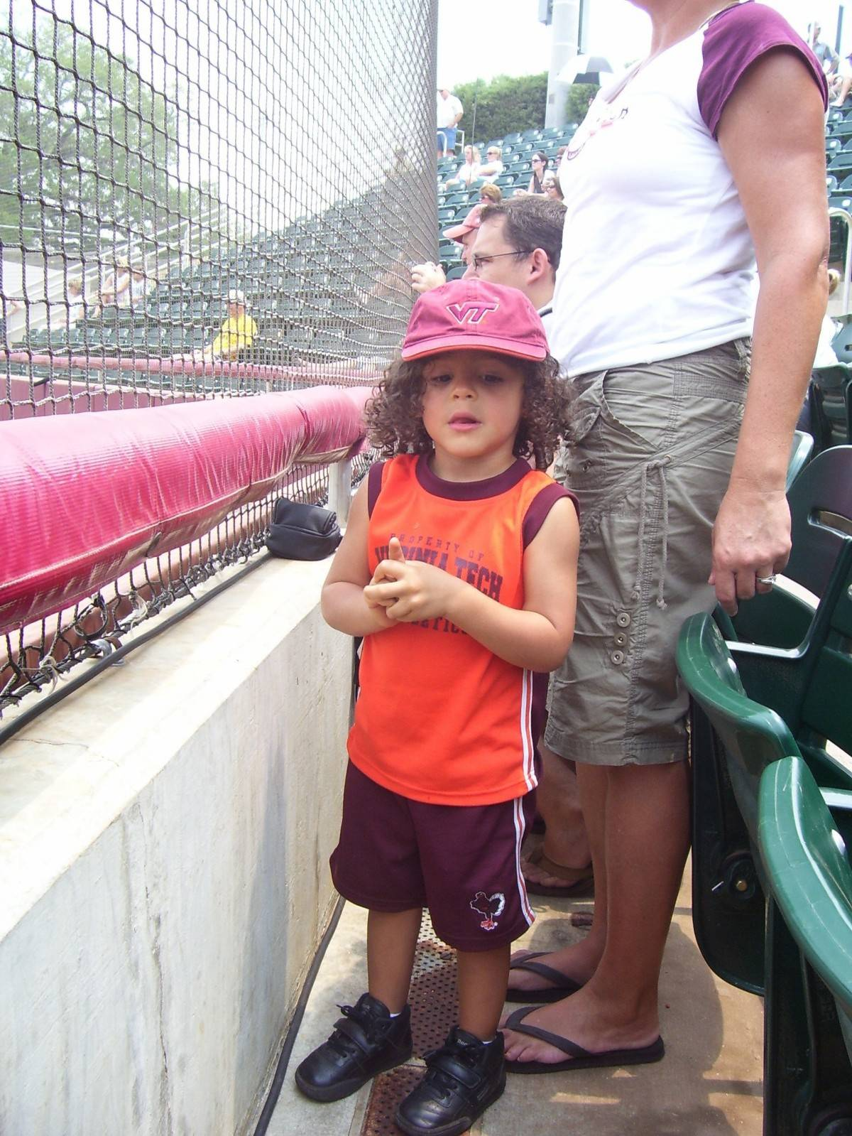 A young Virginia Tech fans shows that the Hokies are No. 1!