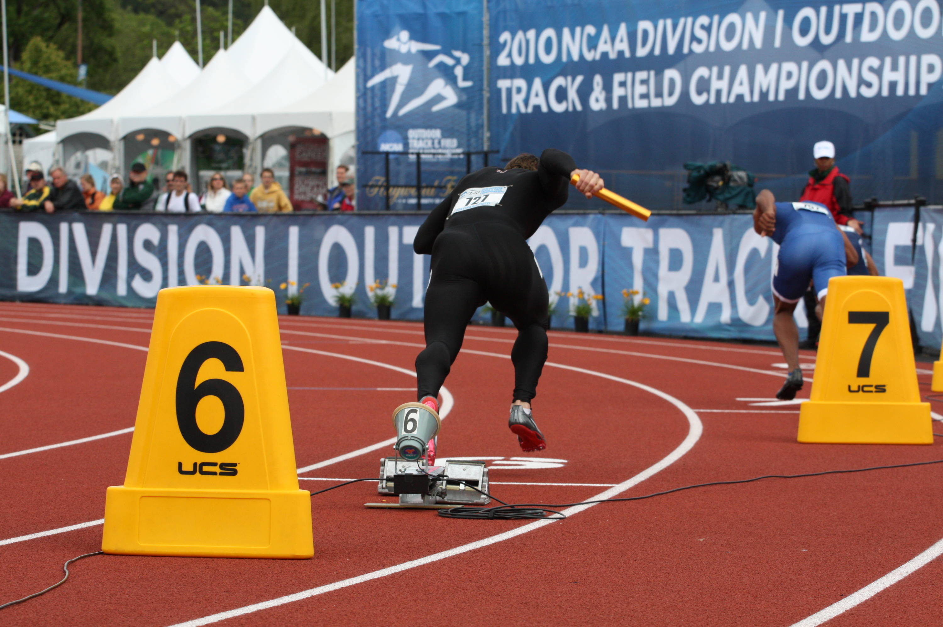 The first day of the NCAA Outdoor Championships.