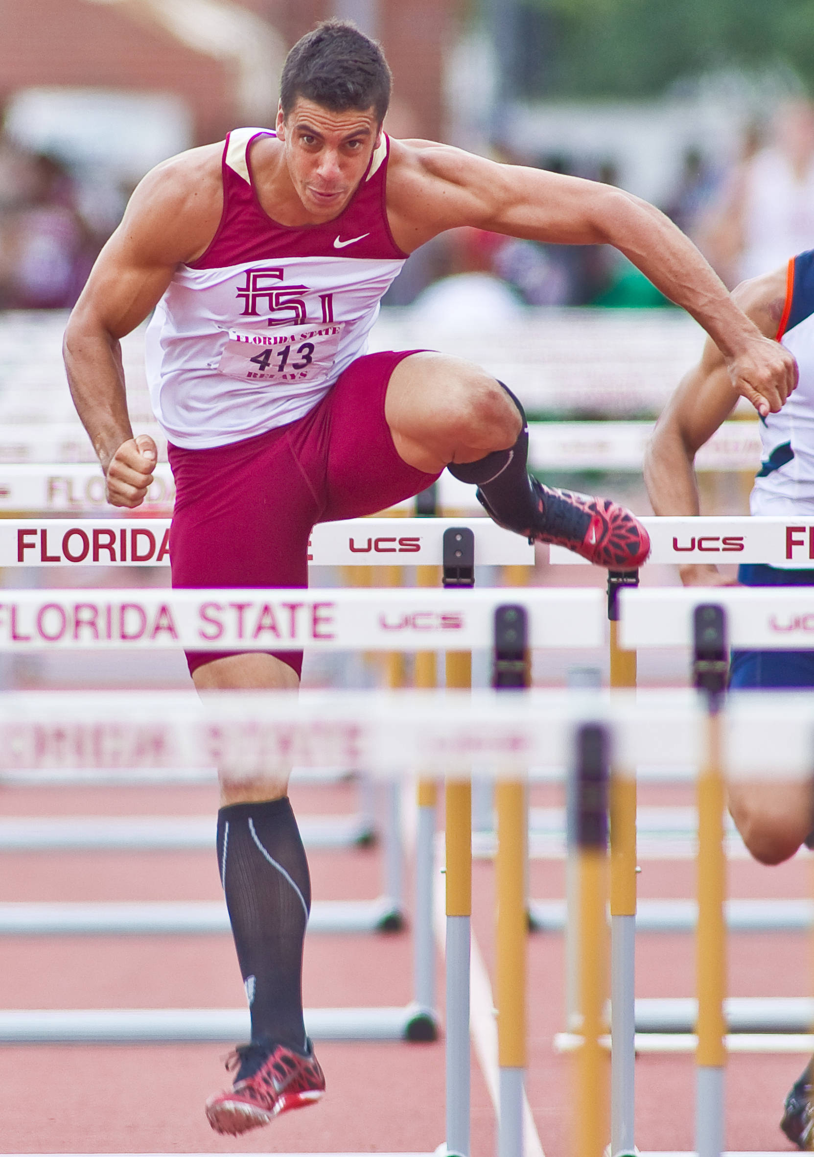 Gonzalo Barroilhet collected the first victory of the day for the Seminoles, winning the 110-meter hurdles in 14.01.