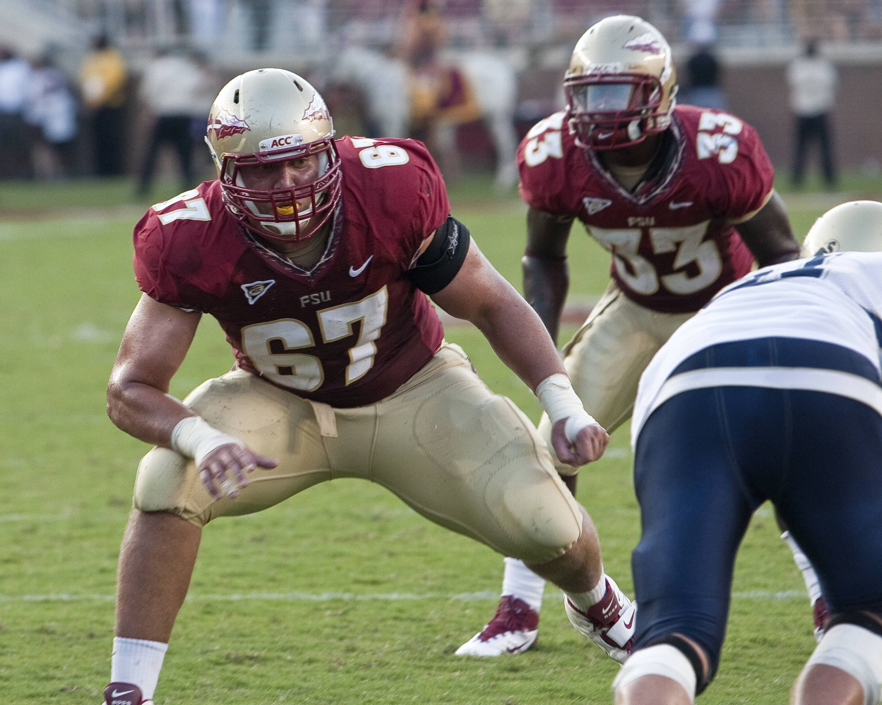 Offensive tackle Andrew Datko (67)