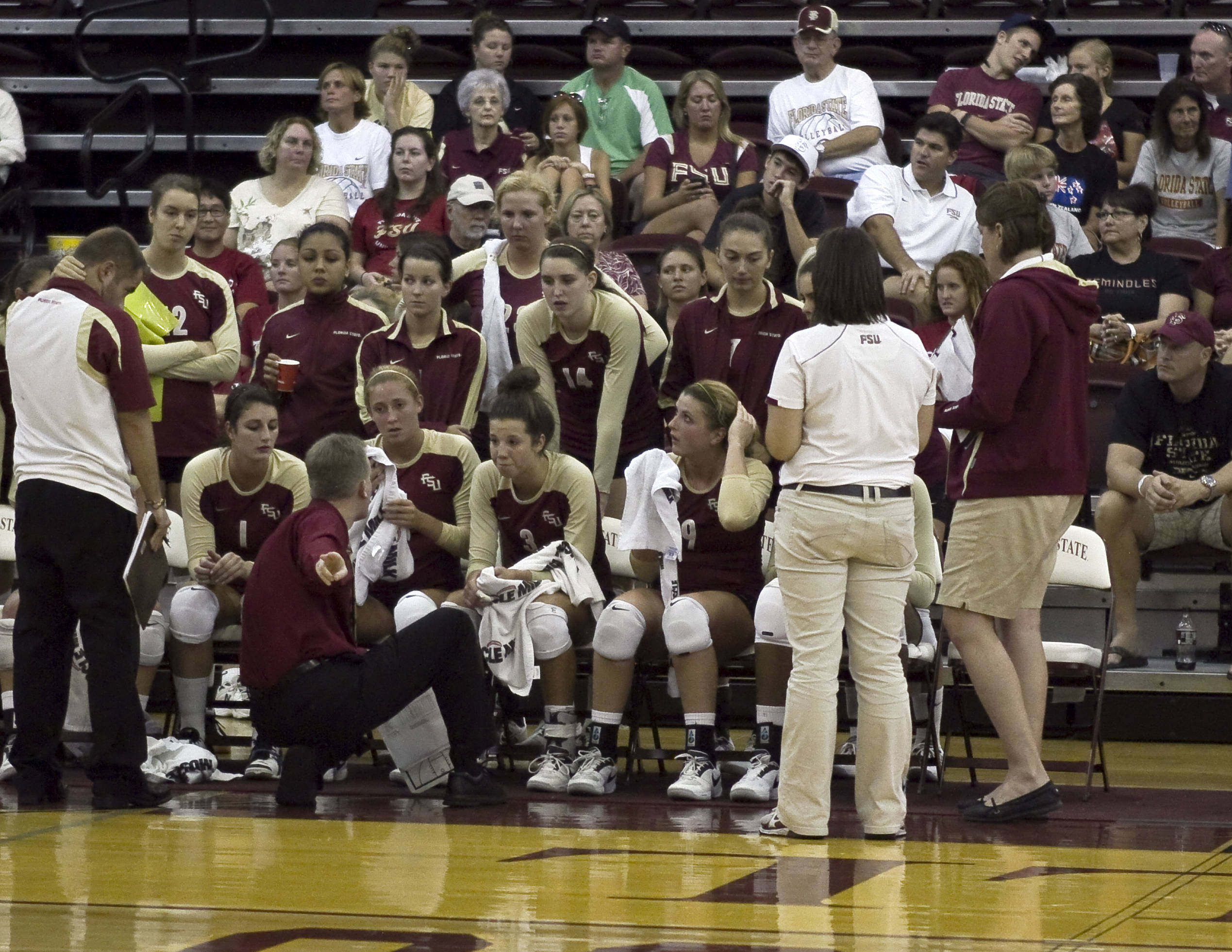 Head Coach Chris Poole with instructions during a time out