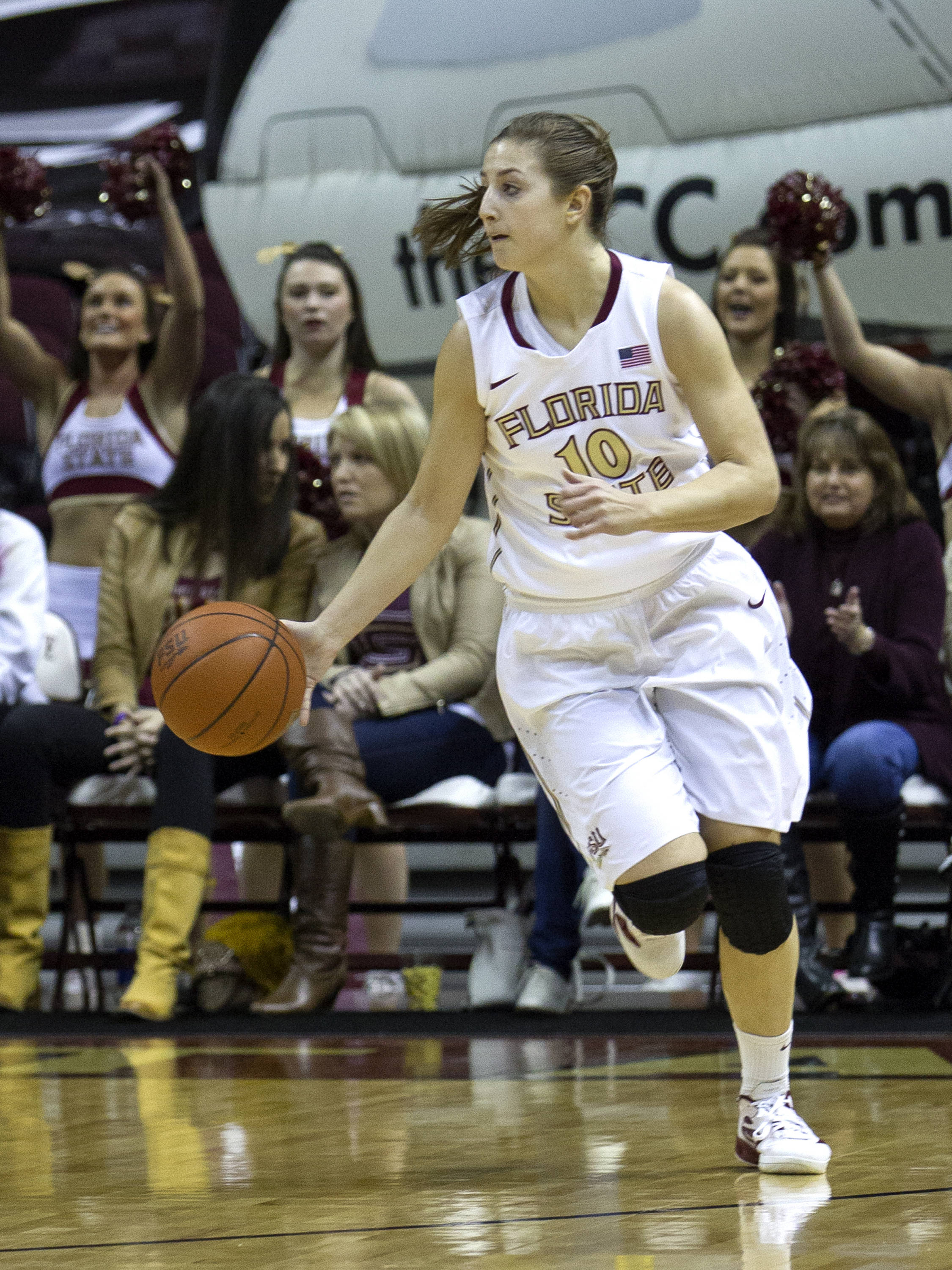 Leonor Rodriguez (10), FSU vs NC, 02/17/13. (Photo by Steve Musco)