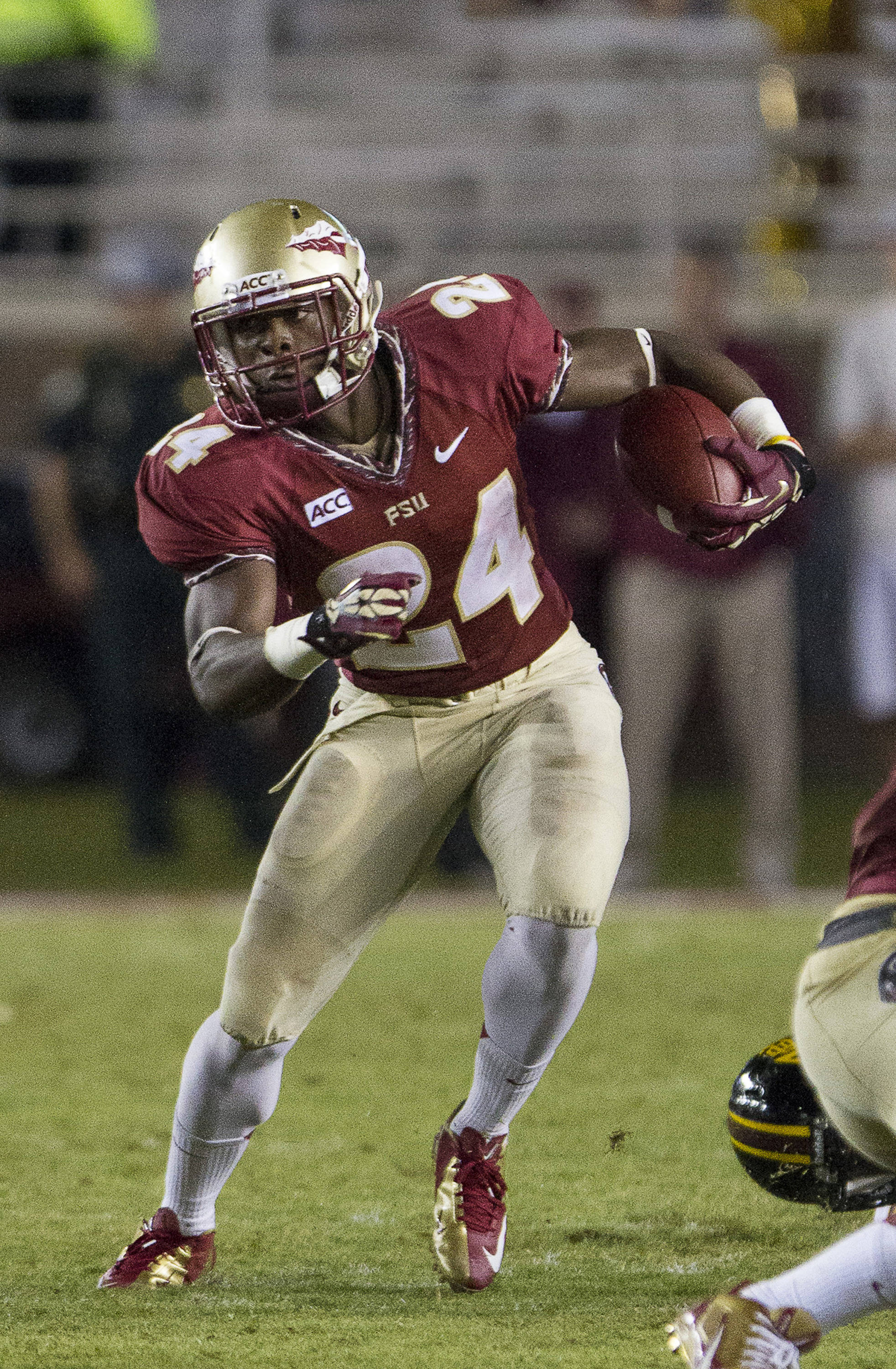 Ryan Green (24) carries the ball during FSU Football's 54-6 win over Bethune-Cookman on September 21, 2013 in Tallahassee, Fla