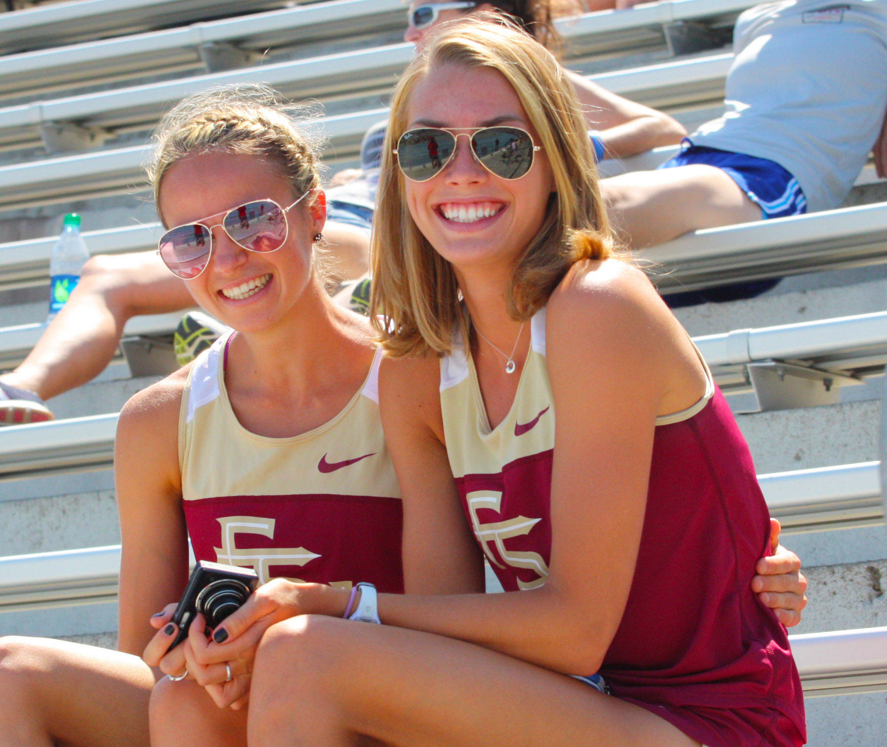 Astrid Leutert and Colleen Quigley - All-American fans