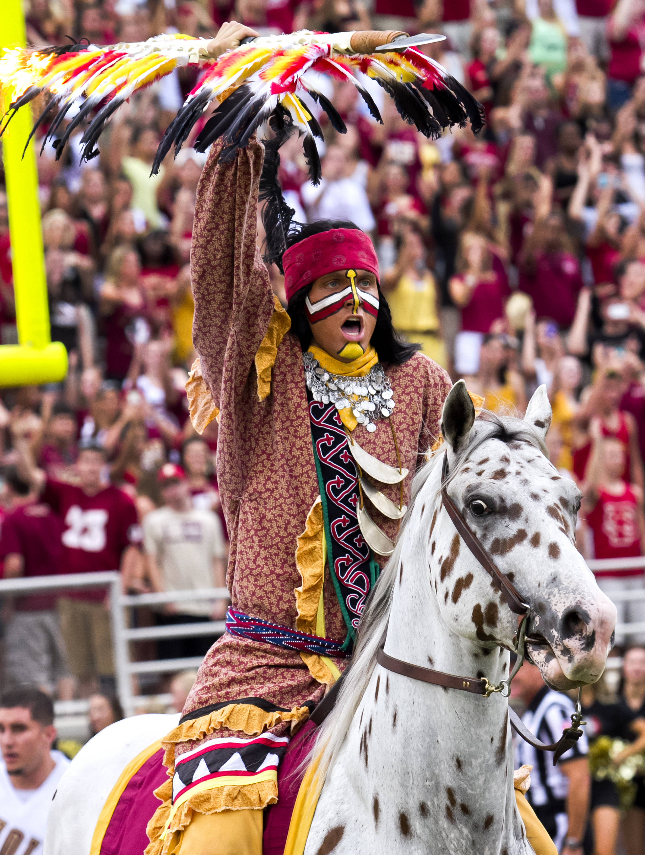 Chief Osceola and Renegade,  FSU vs Savannah State, 9/8/12 (Photo by Steve Musco)