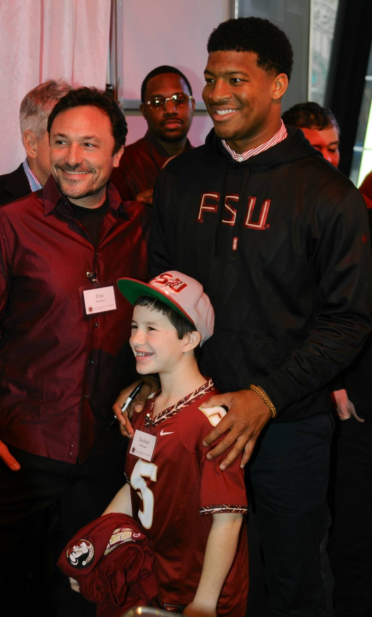 Jameis Winston poses for pictures with fans (Photo by Jeff Romance)