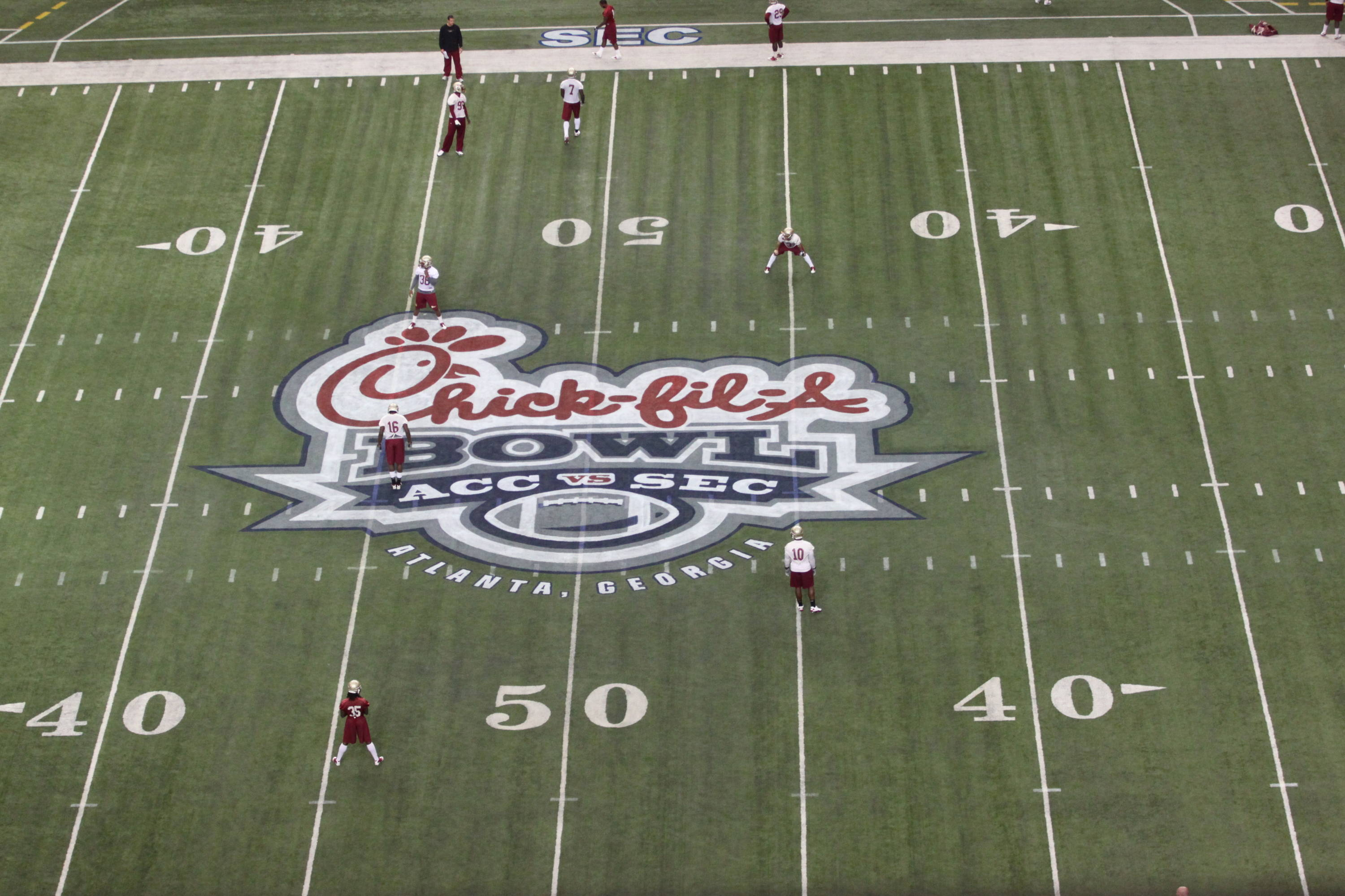 Chick-fil-A Bowl Practice Four