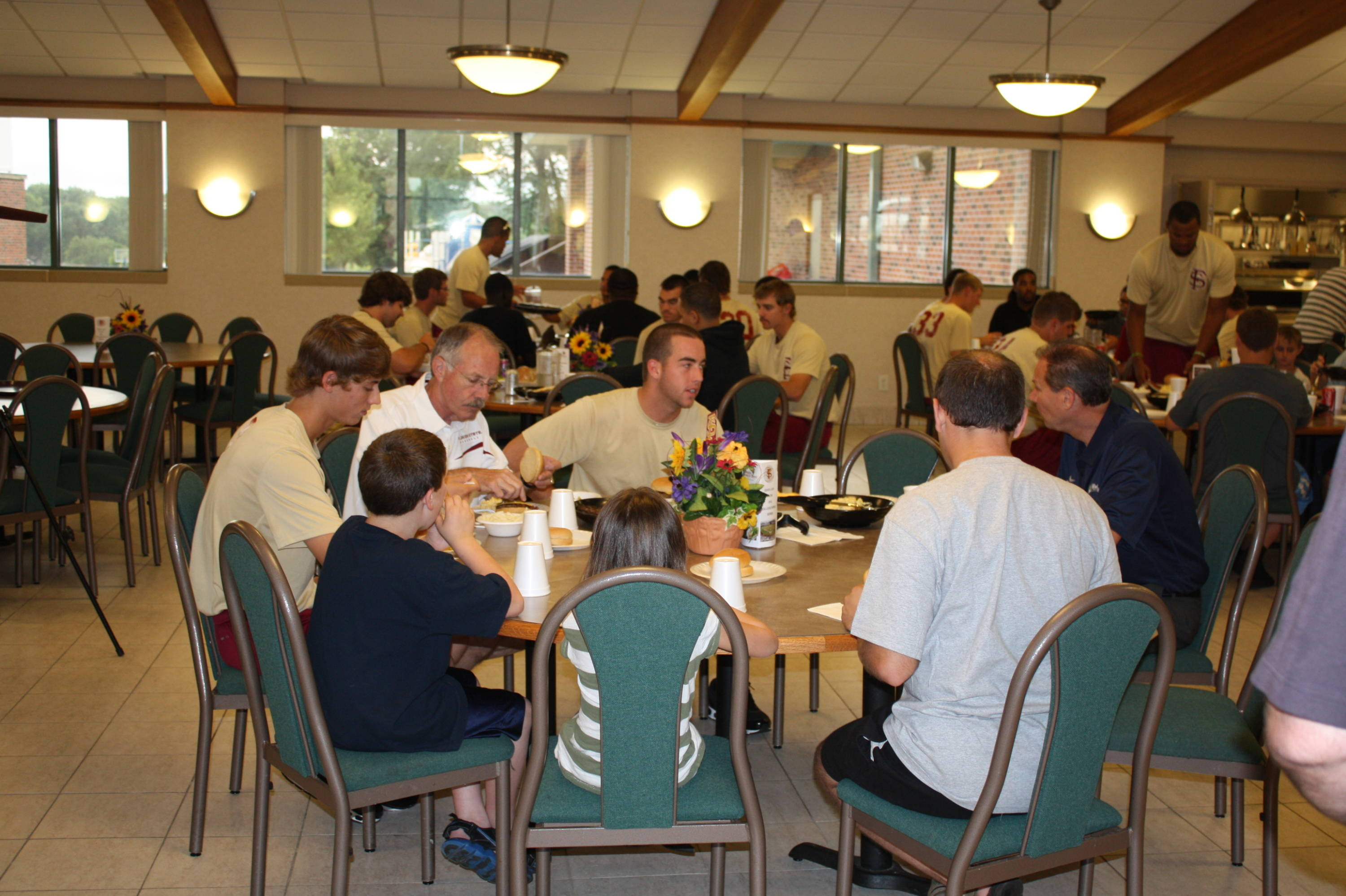Florida State Baseball visits the Omaha Home for Boys on Saturday, June 16. The Seminoles enjoying lunch.