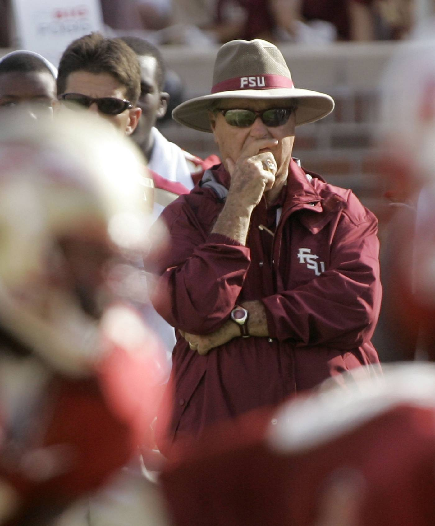 Florida State coach Bobby Bowden watches the action during the second quarter. (AP Photo/Phil Coale)