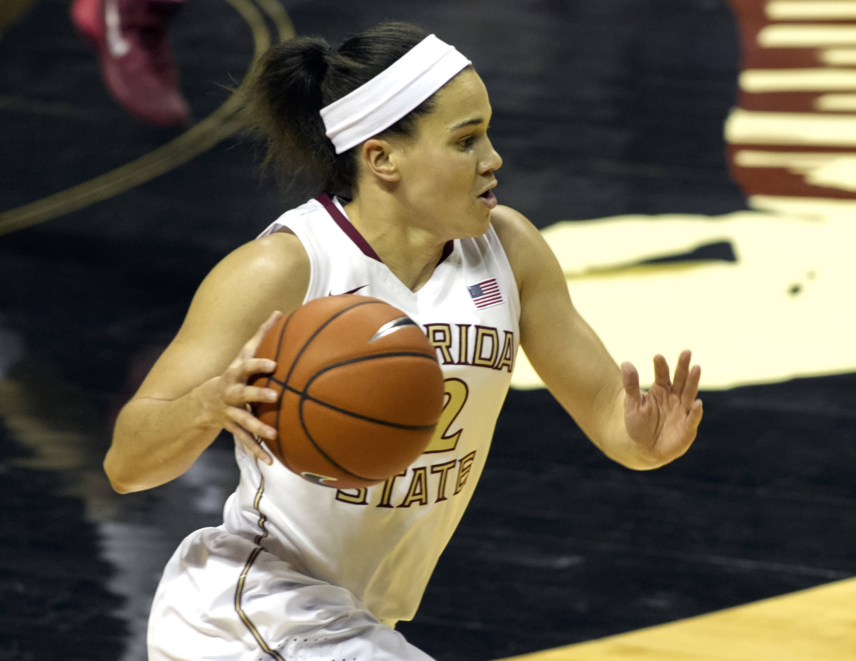 Brittany Brown (12), FSU vs Michigan State, 12-04-13,  (Photo by Steve Musco)