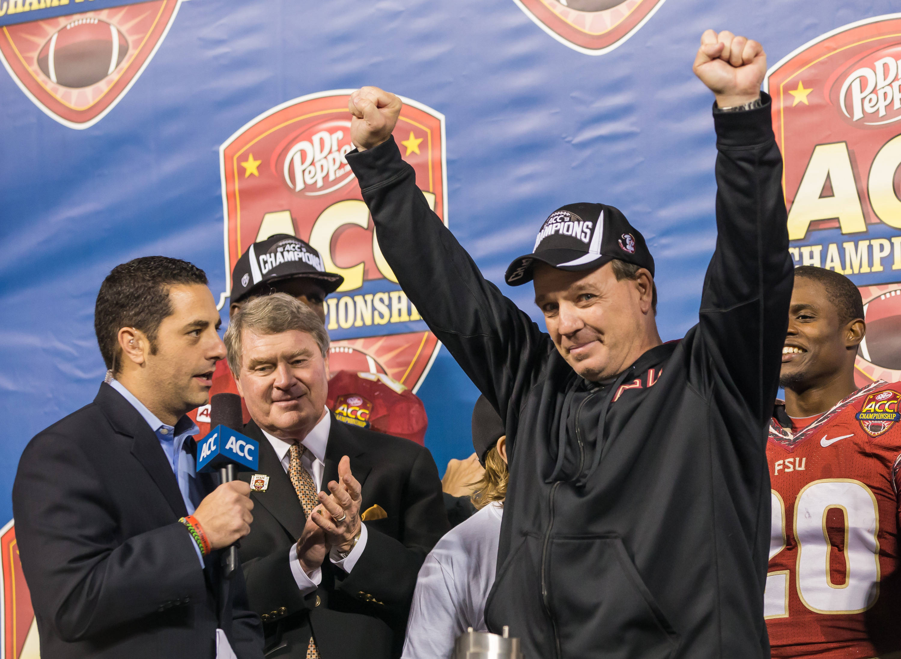 Jimbo Fisher celebrates an ACC Championship and a trip to the BCS National Championship Game.