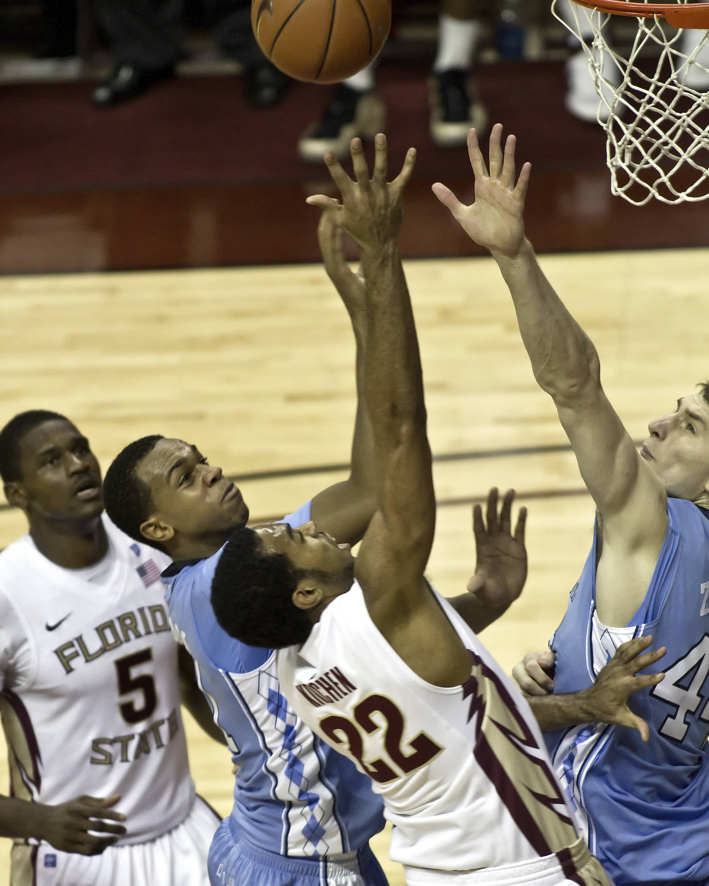 FSU vs NC- 03//02/11 - Derwin Kitchen (22), Bernard James (5)
