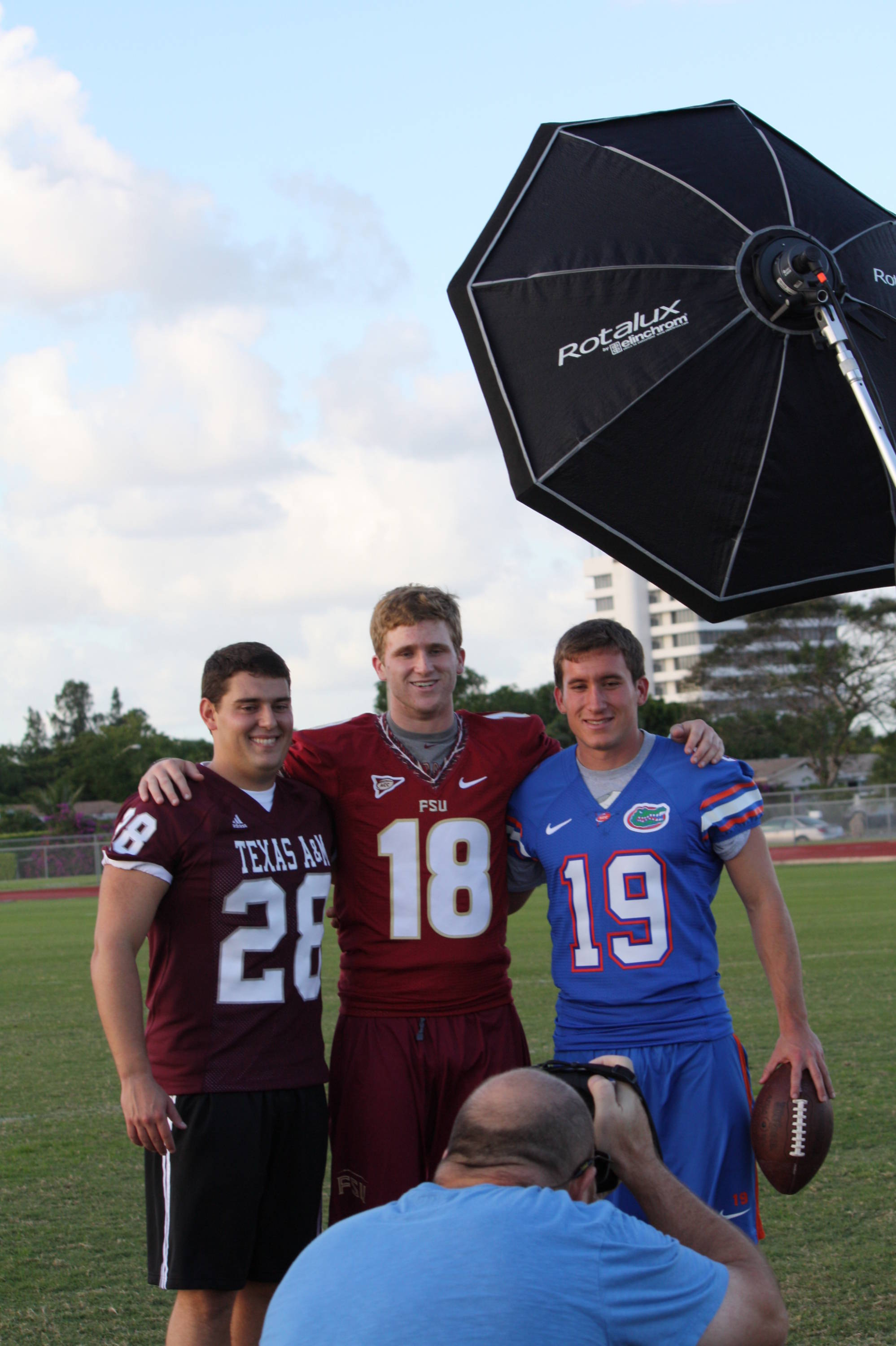 The players had a number of media opportunities and photo shoots over the course of two days in West Palm Beach.
