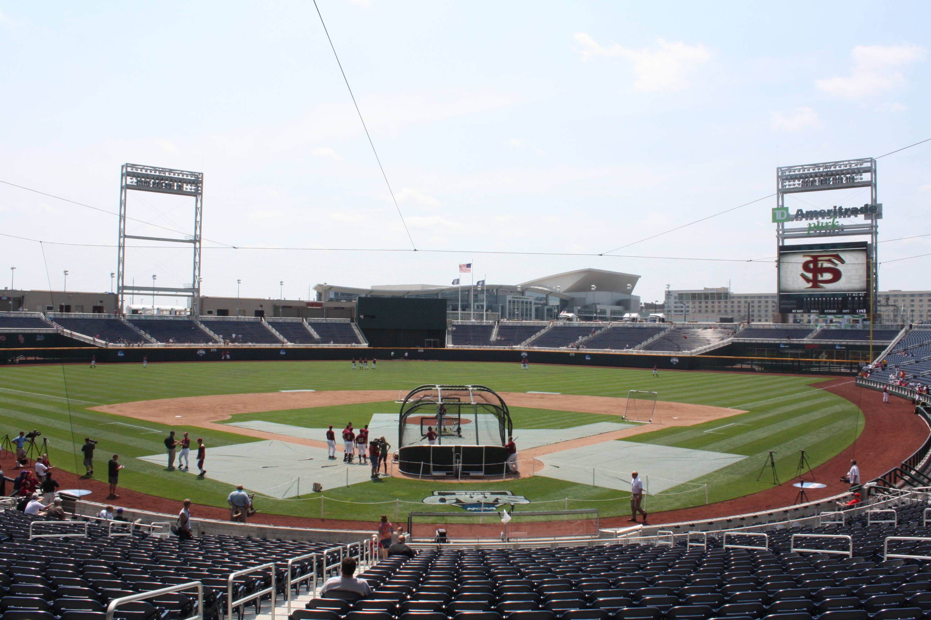 TD Ameritrade Park Omaha - home of the College World Series